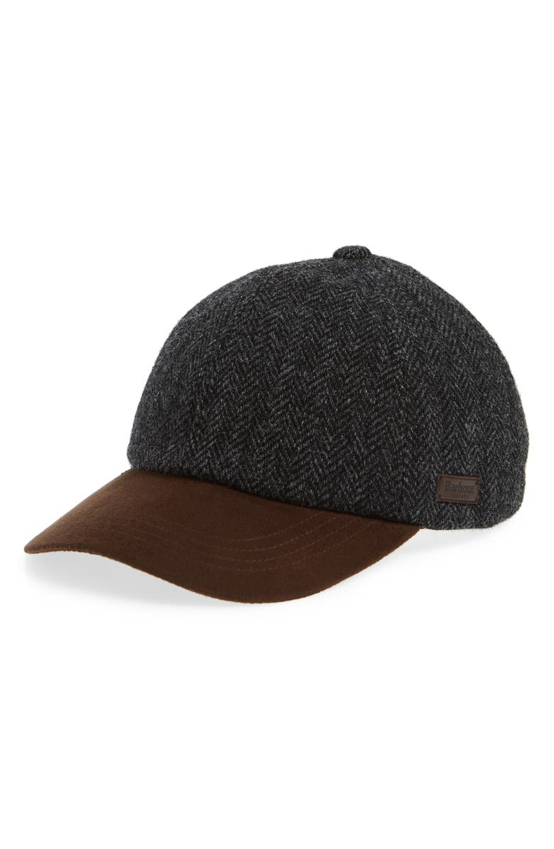 Barbour Dotterel Wool   Moleskin Cap - Black In Black Herringbone ... c655a1d5023