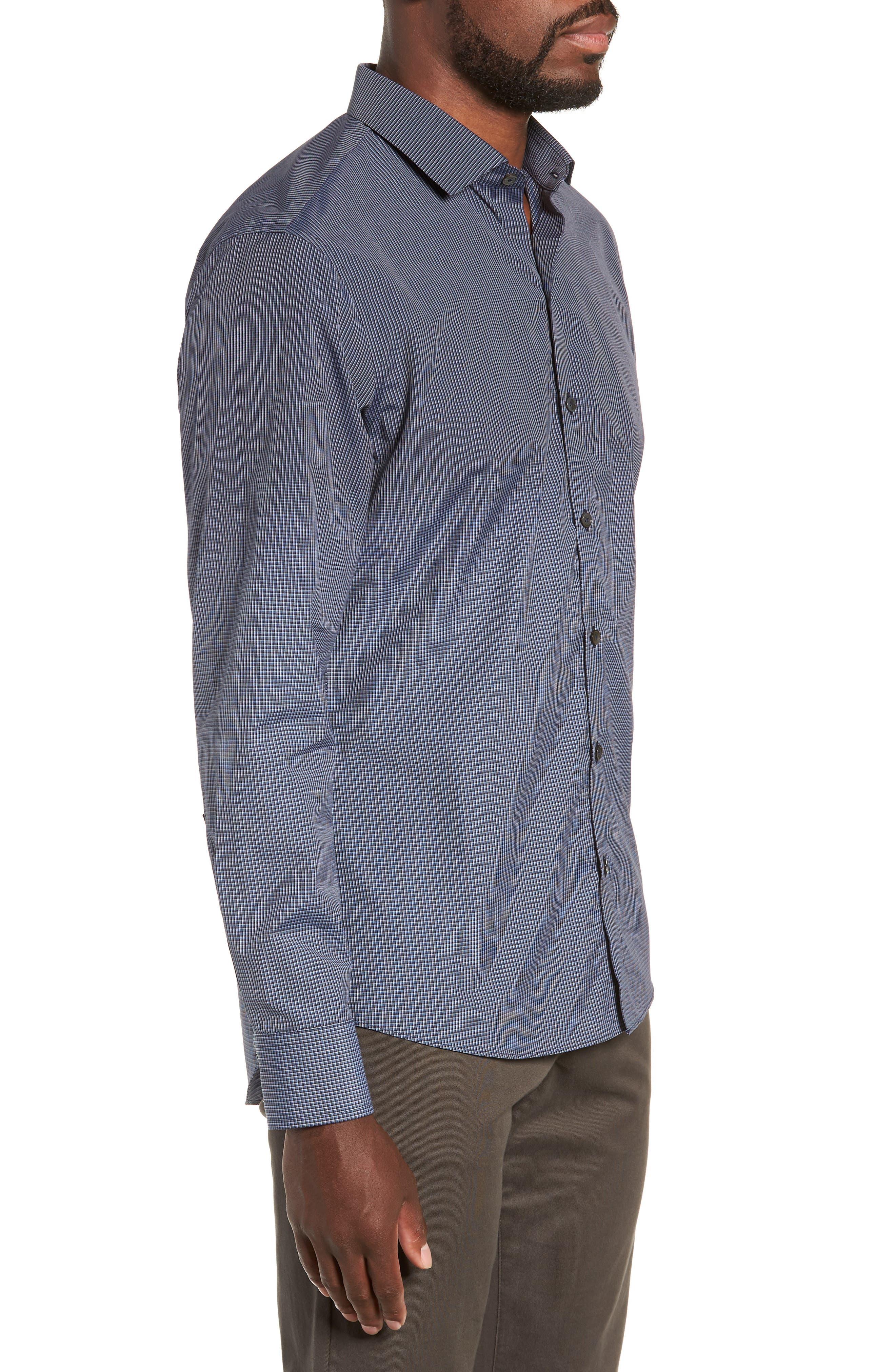Hong Regular Fit Sport Shirt,                             Alternate thumbnail 4, color,                             NAVY