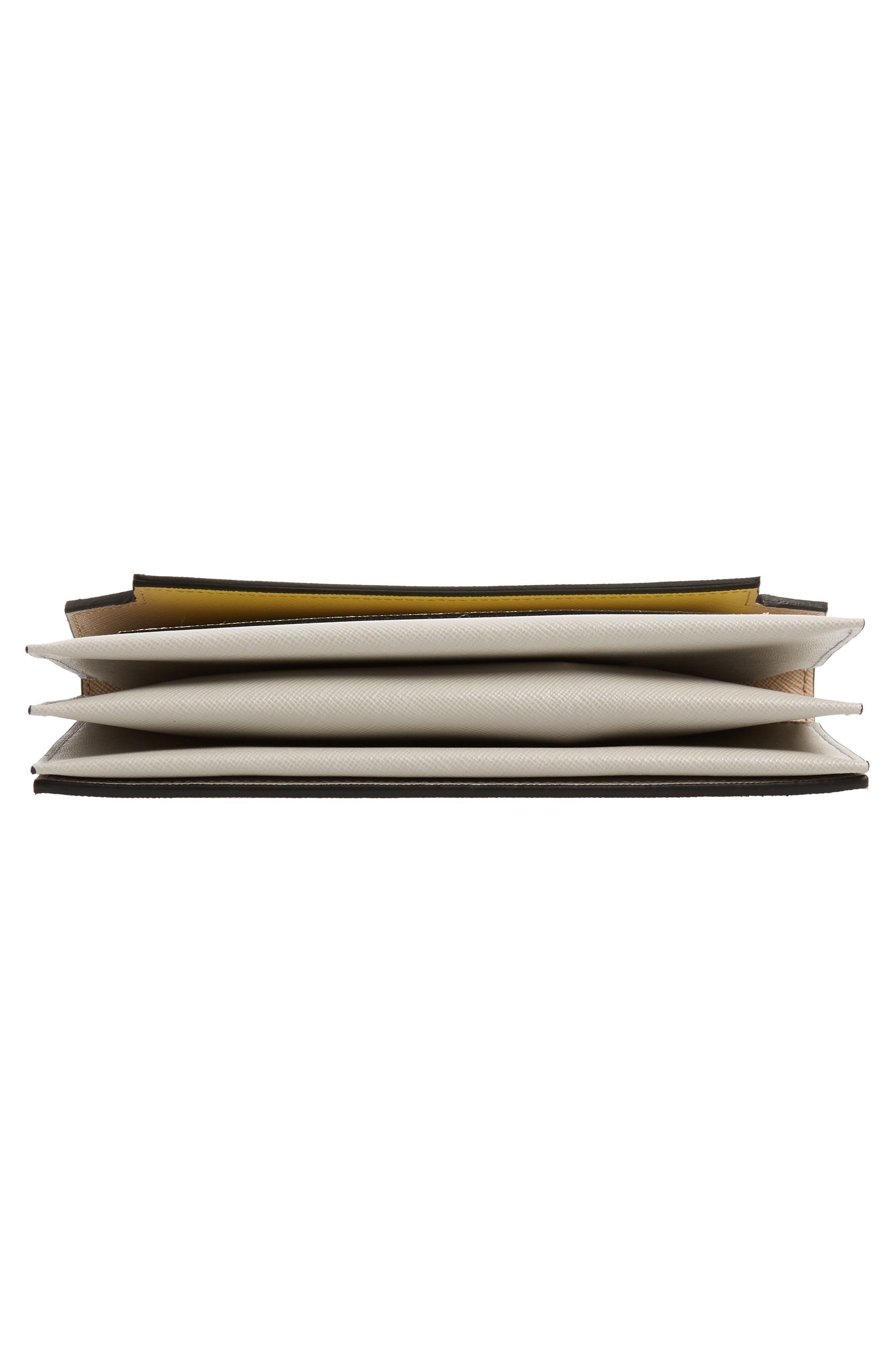Trunk Leather Crossbody Wallet,                             Alternate thumbnail 7, color,                             LIGHT CAMEL/ VANILLA/ PELICAN