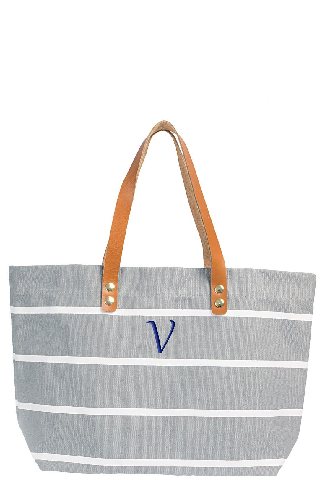 Monogram Stripe Tote,                             Main thumbnail 50, color,