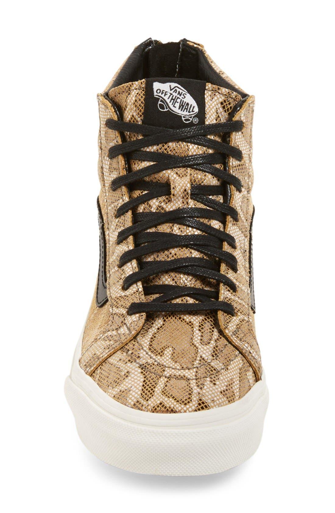 'Sk8-Hi' Zip Sneaker,                             Alternate thumbnail 4, color,                             200