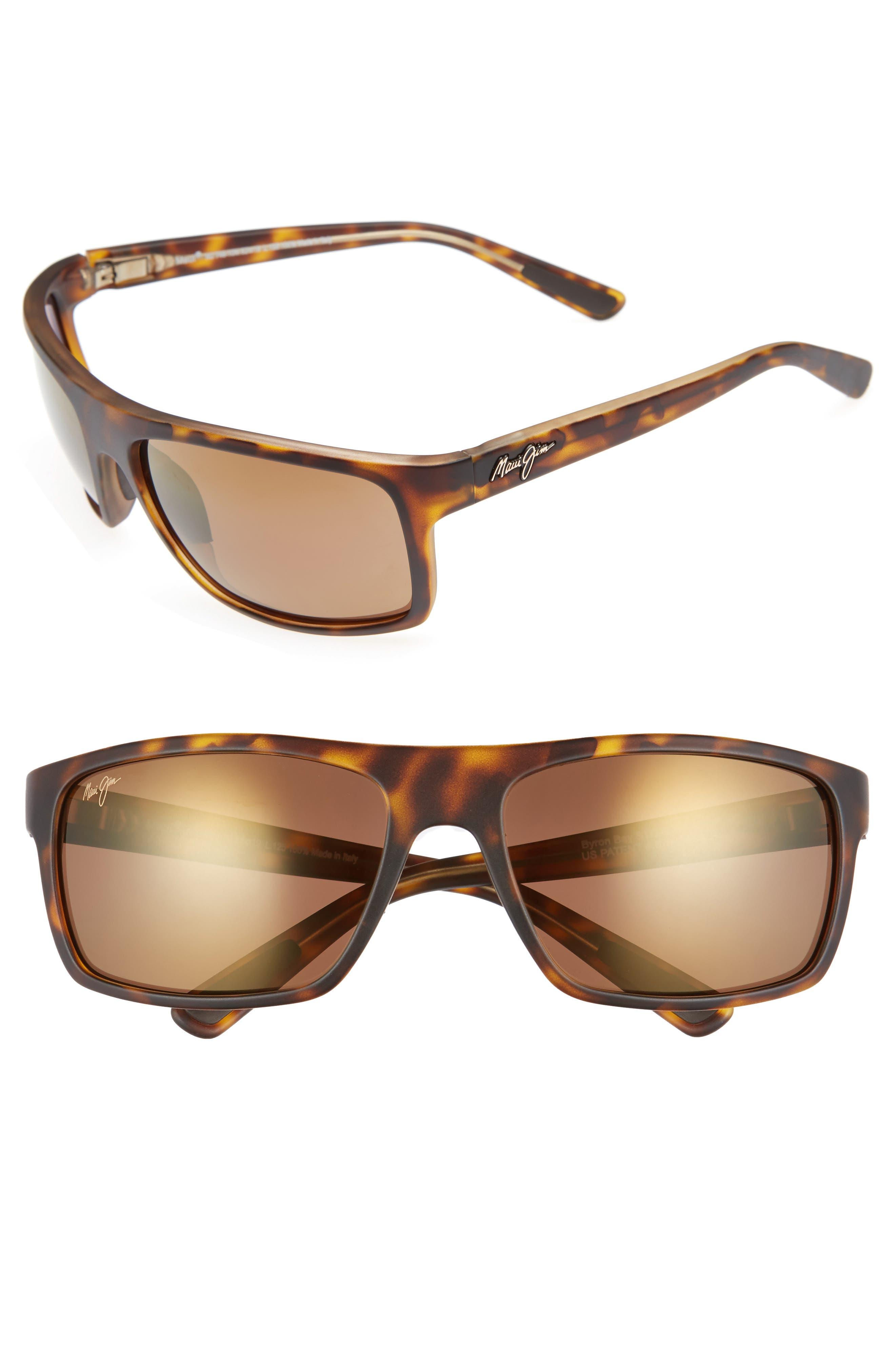 Maui Jim Byron Bay 62Mm Polarized Sunglasses - Matte Tortoise/ Bronze