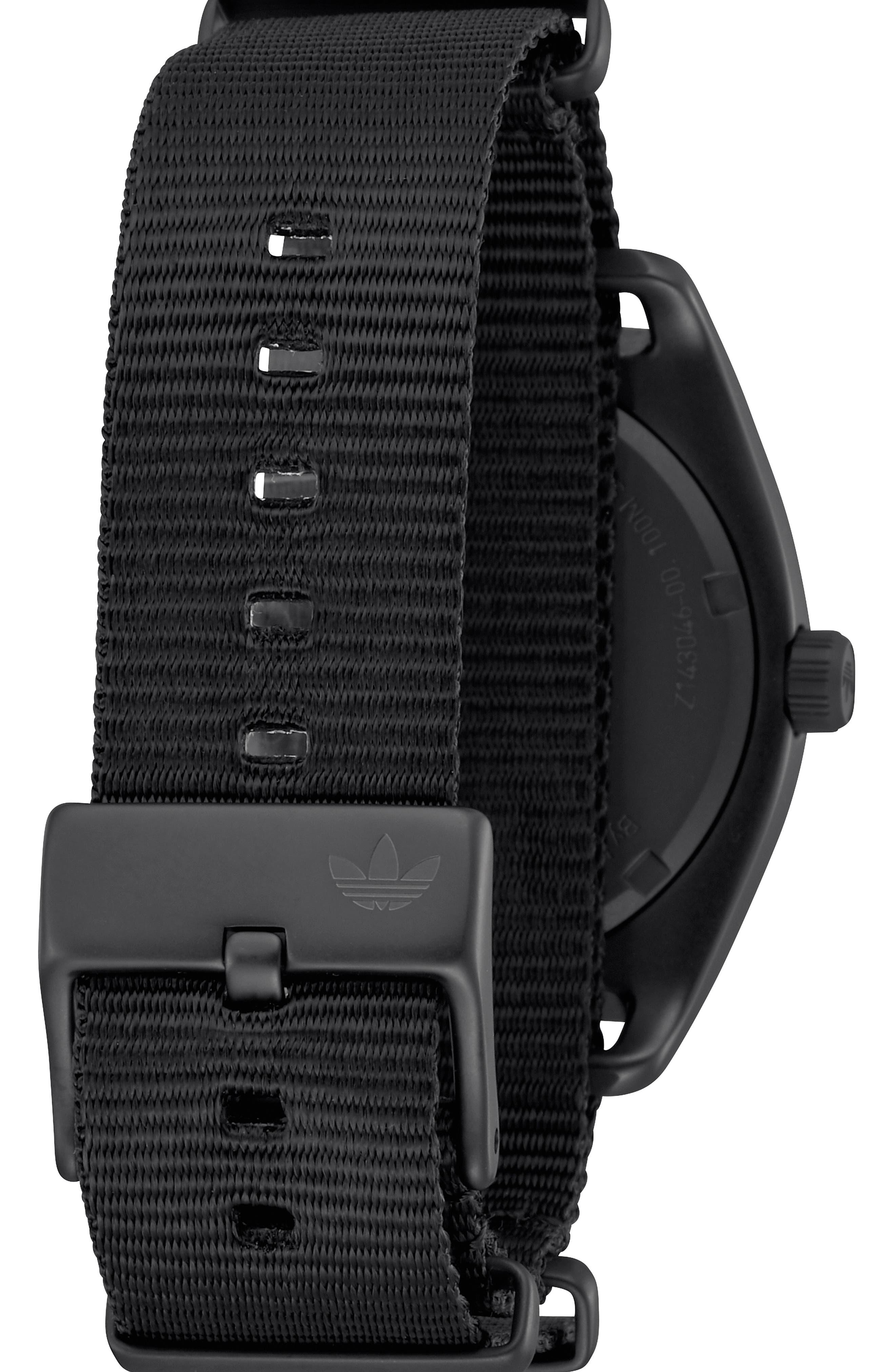 Process Interchangeable Strap Watch, 40mm,                             Alternate thumbnail 2, color,                             BLACK/ TAN