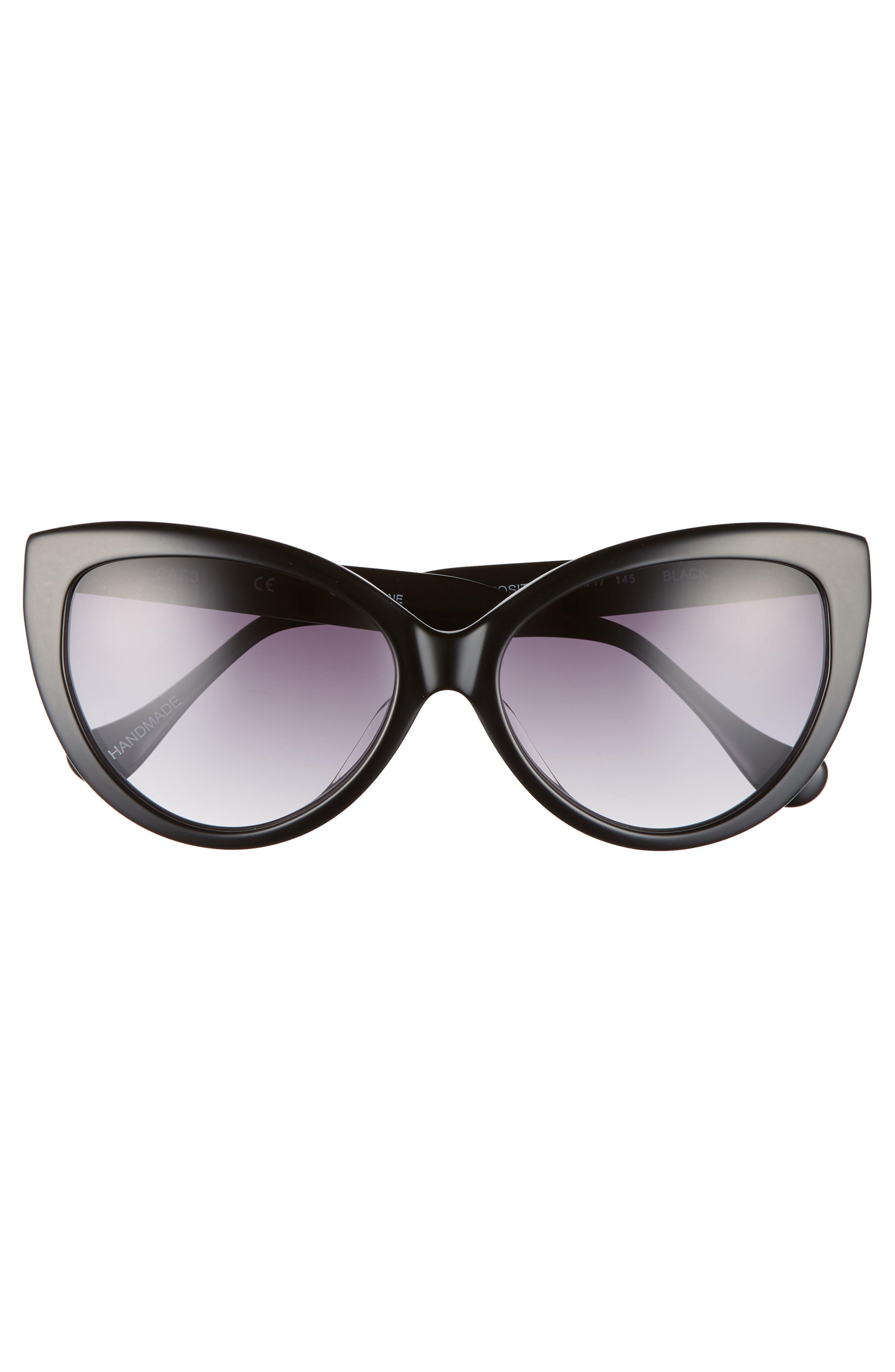 Curiosity 59mm Cat Eye Sunglasses,                             Alternate thumbnail 5, color,