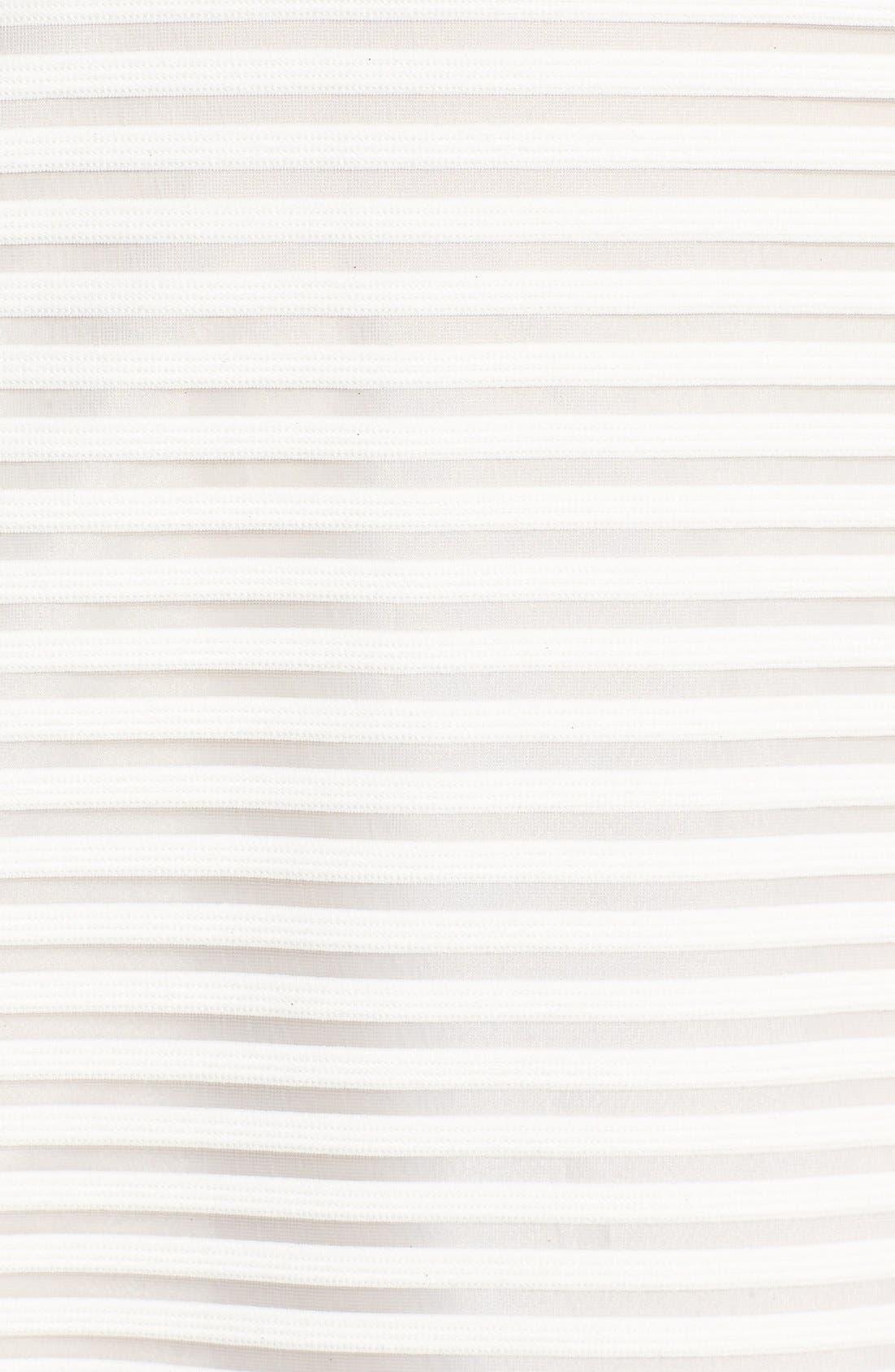 High Neck Shadow Stripe Skater Dress,                             Alternate thumbnail 5, color,                             151