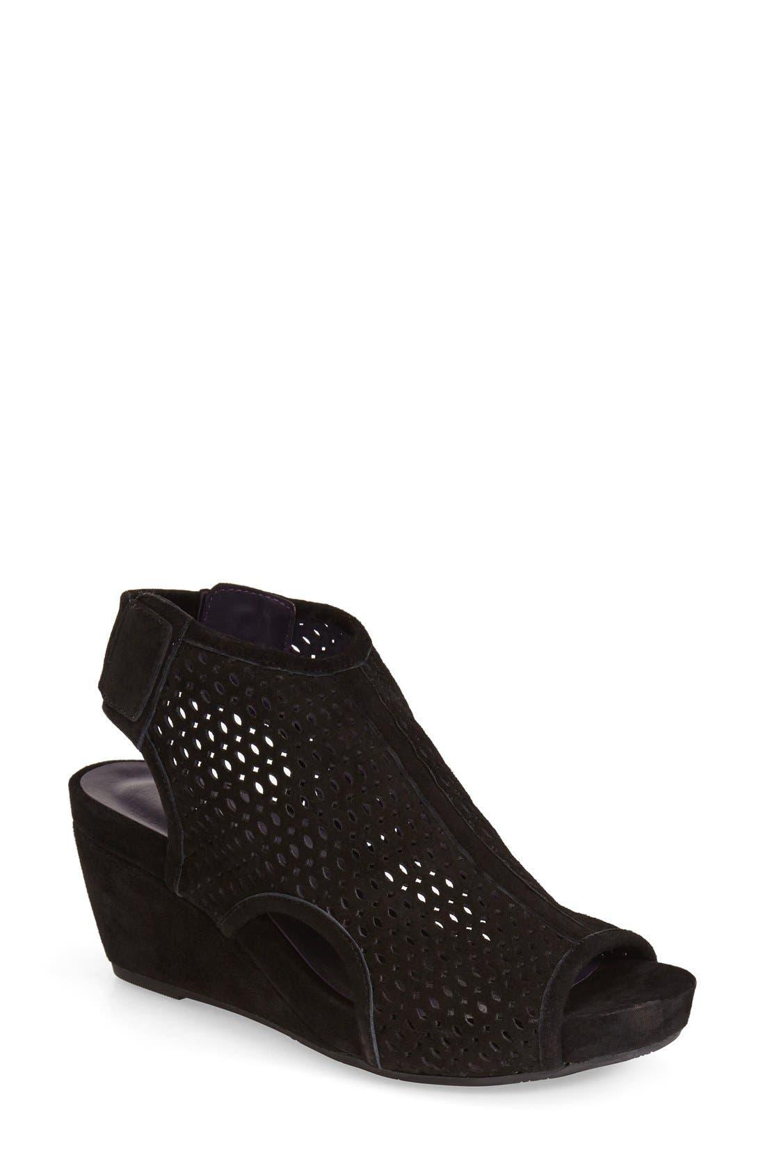 'Inez' Wedge Sandal,                         Main,                         color, 001