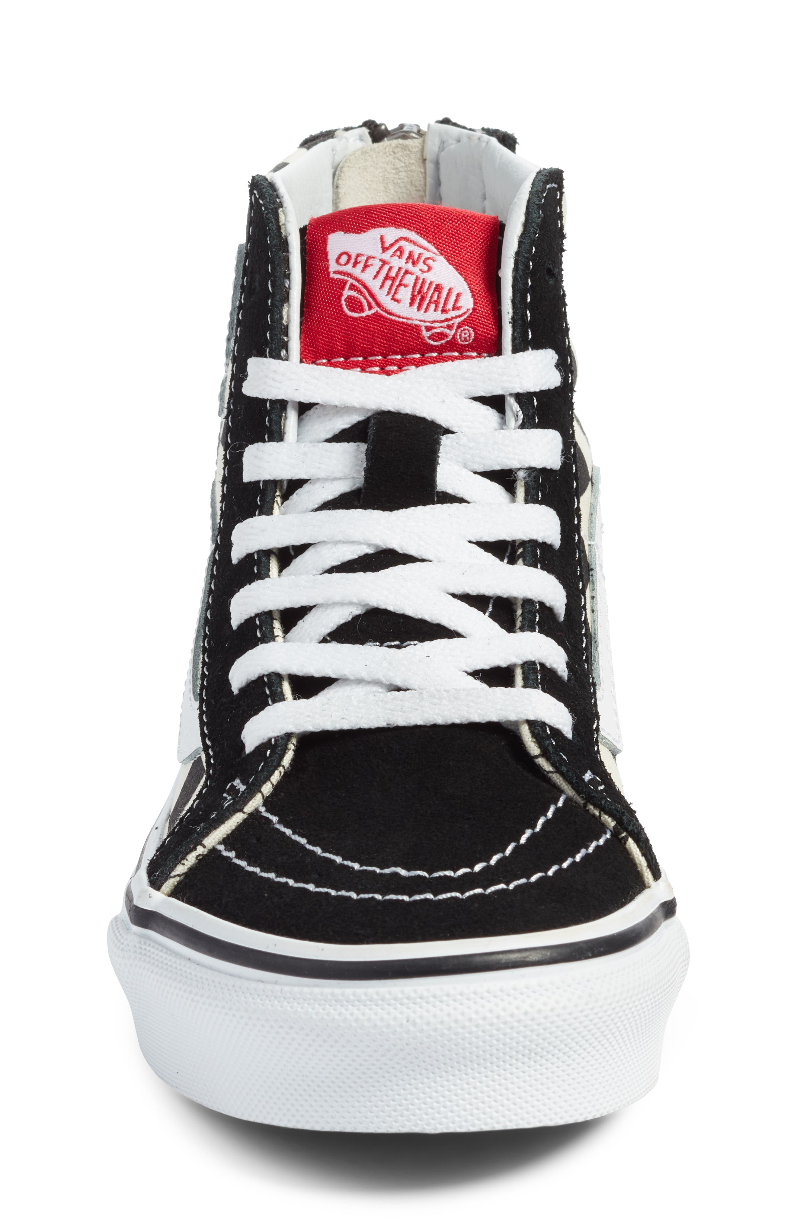 x Disney Mickey Mouse SK8-Hi Zip Sneaker,                             Alternate thumbnail 4, color,                             DISNEY MICKEY CHECKERBOARD