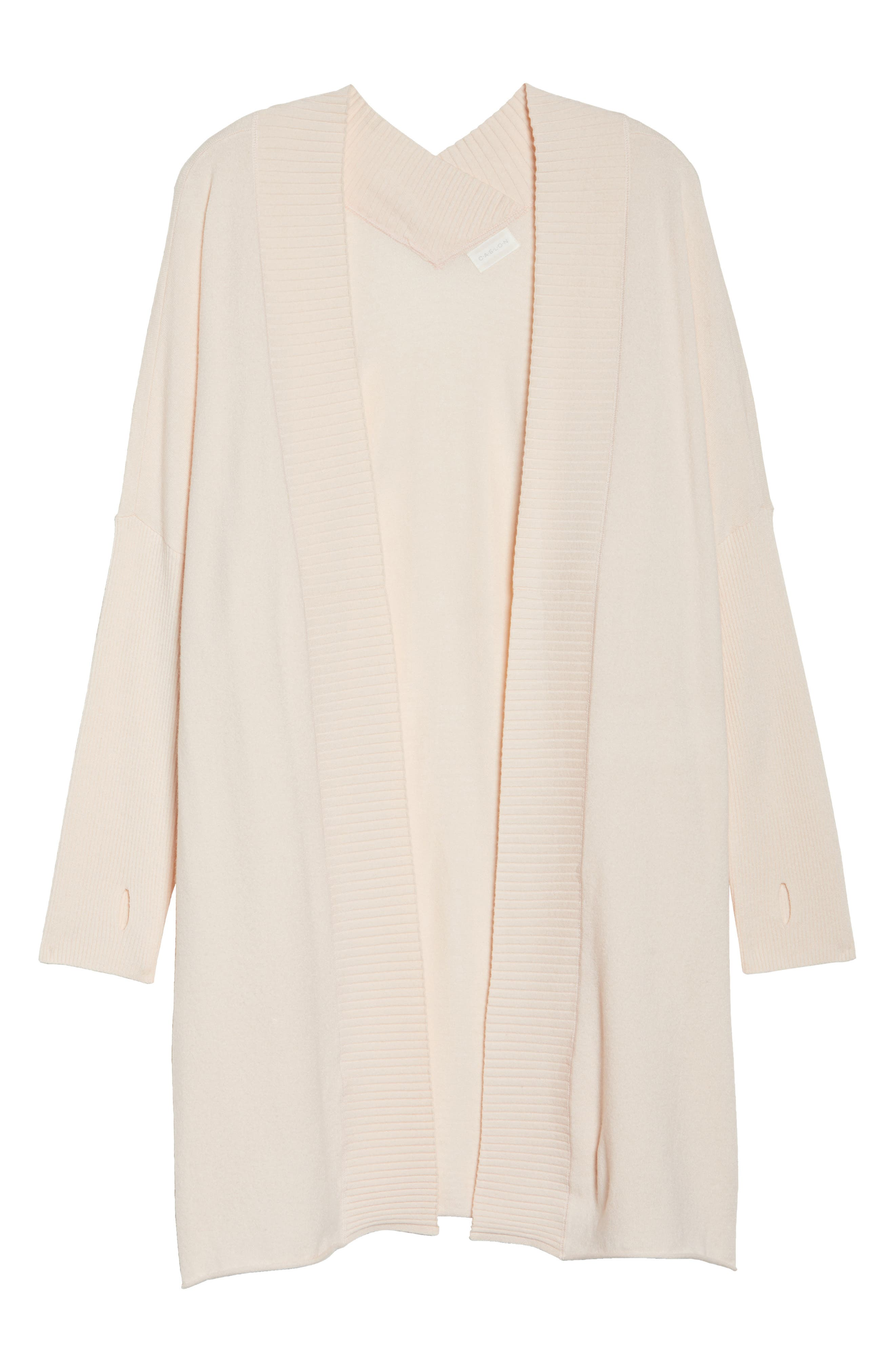 Off-Duty Long Open Front Cardigan,                             Alternate thumbnail 18, color,