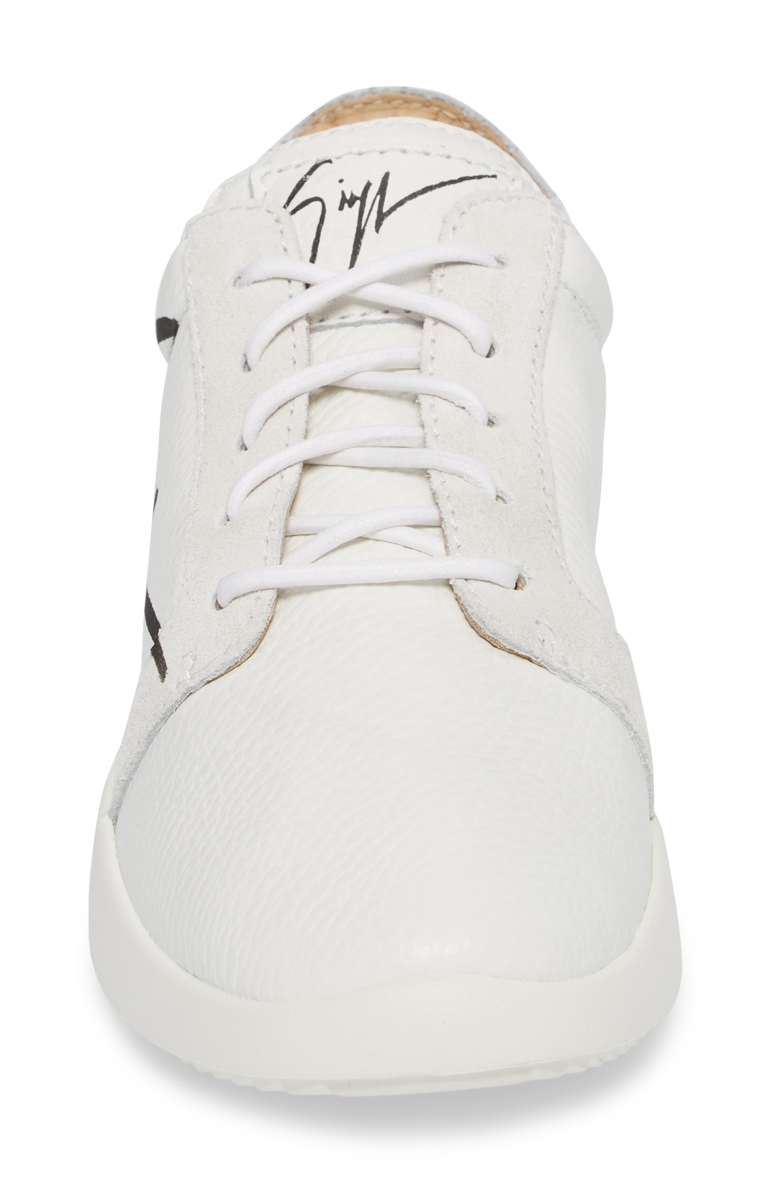 Logo Low Top Sneaker,                             Alternate thumbnail 4, color,