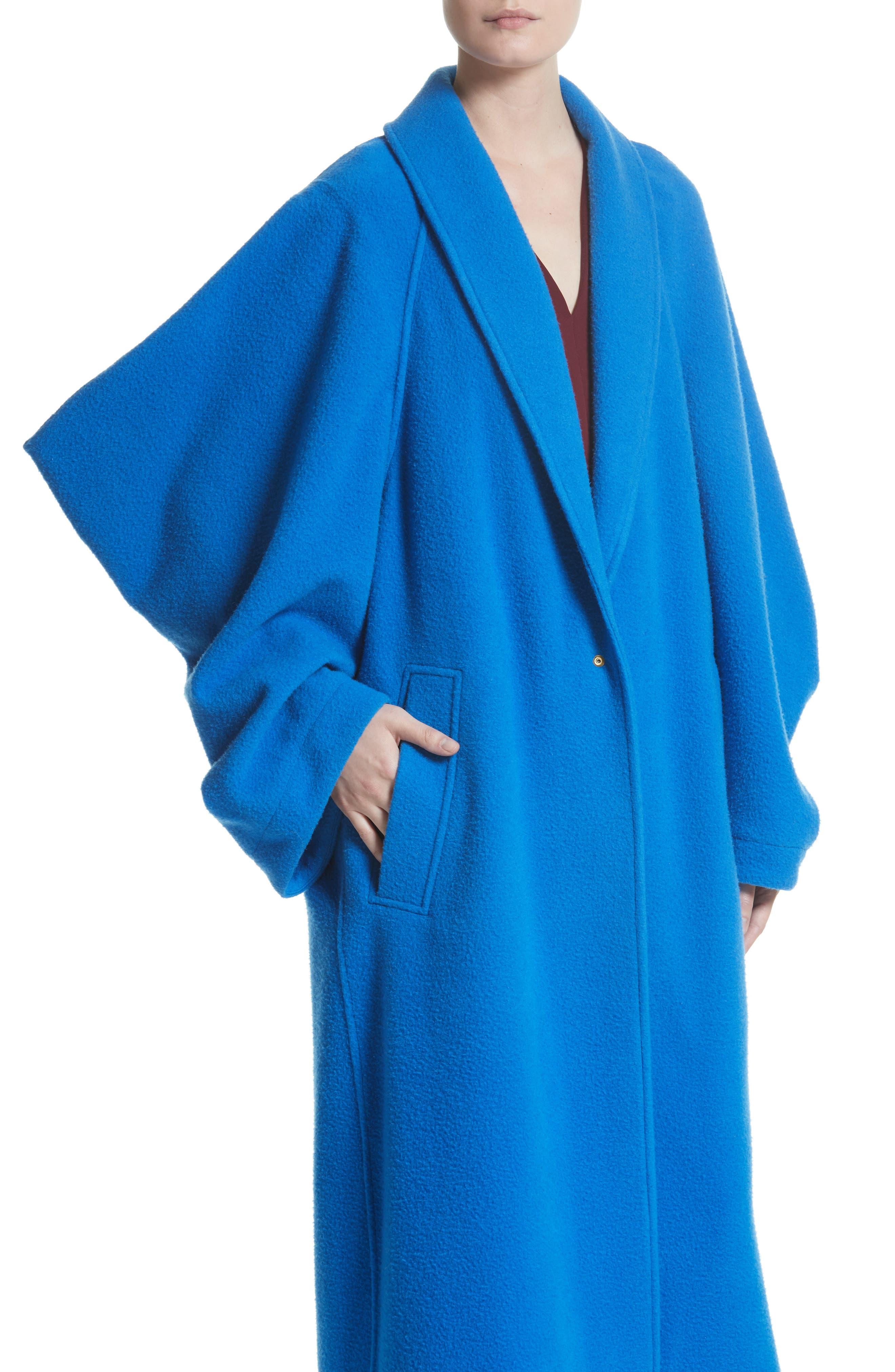 Hotaru Wool & Cashmere Coat,                             Alternate thumbnail 4, color,                             405
