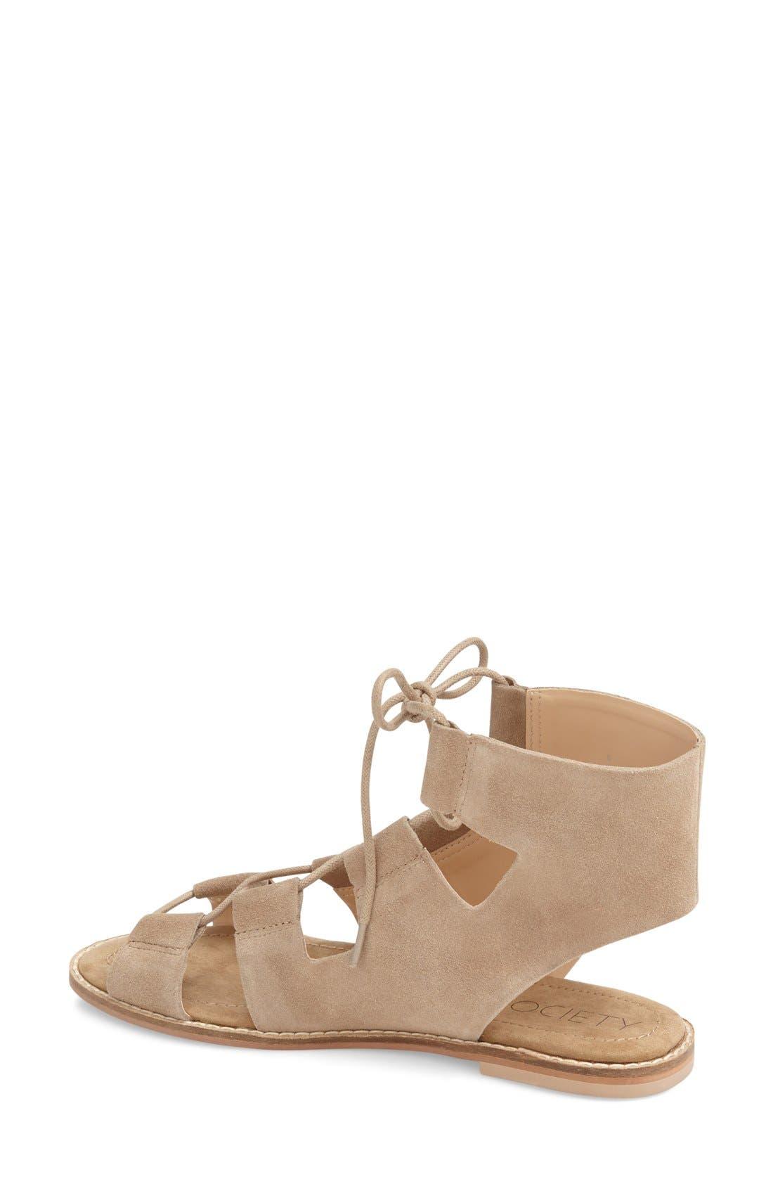 'Cady' Lace-Up Flat Sandal,                             Alternate thumbnail 14, color,