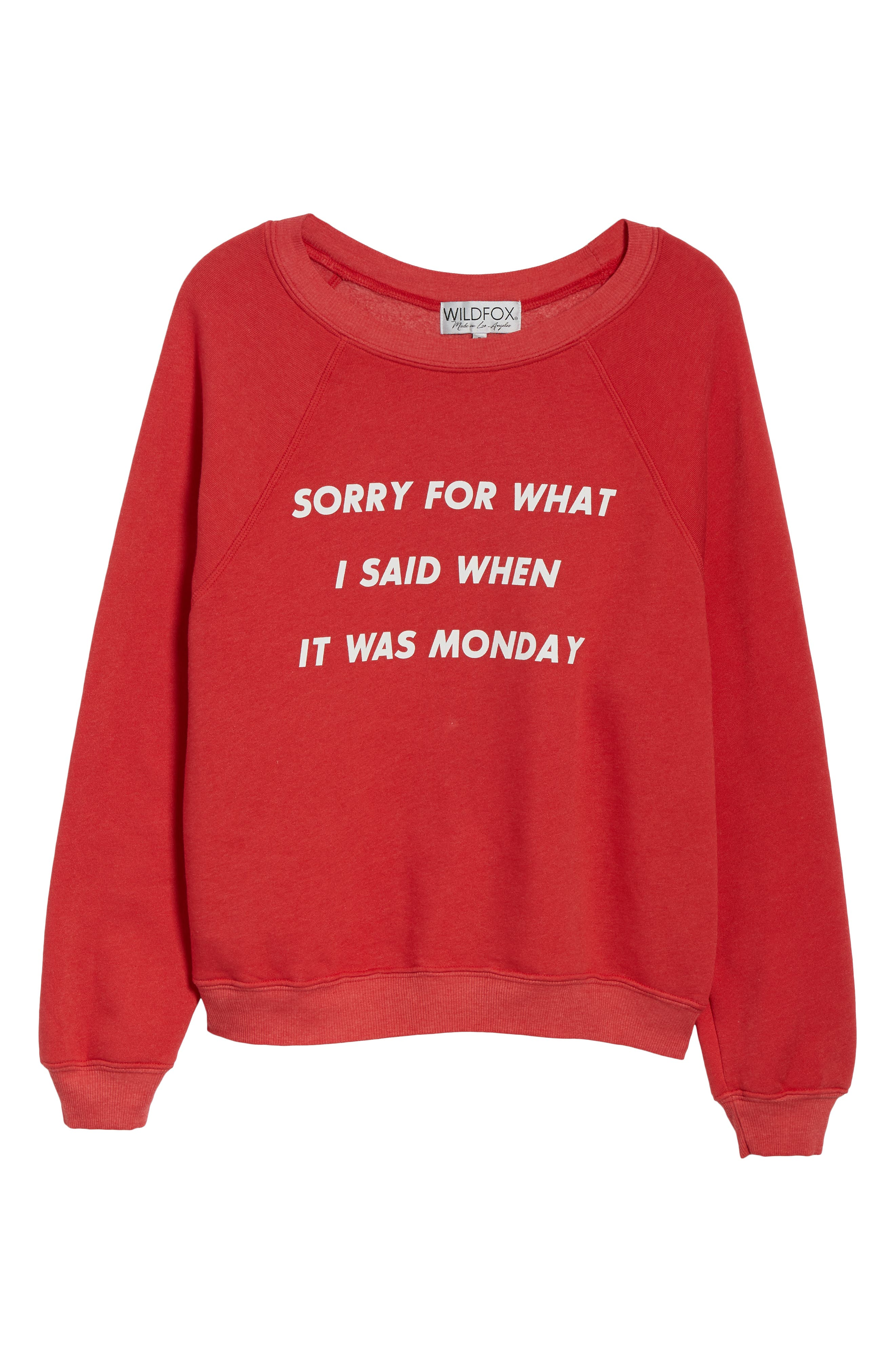Monday Sommer Sweatshirt,                             Alternate thumbnail 6, color,                             SCARLET