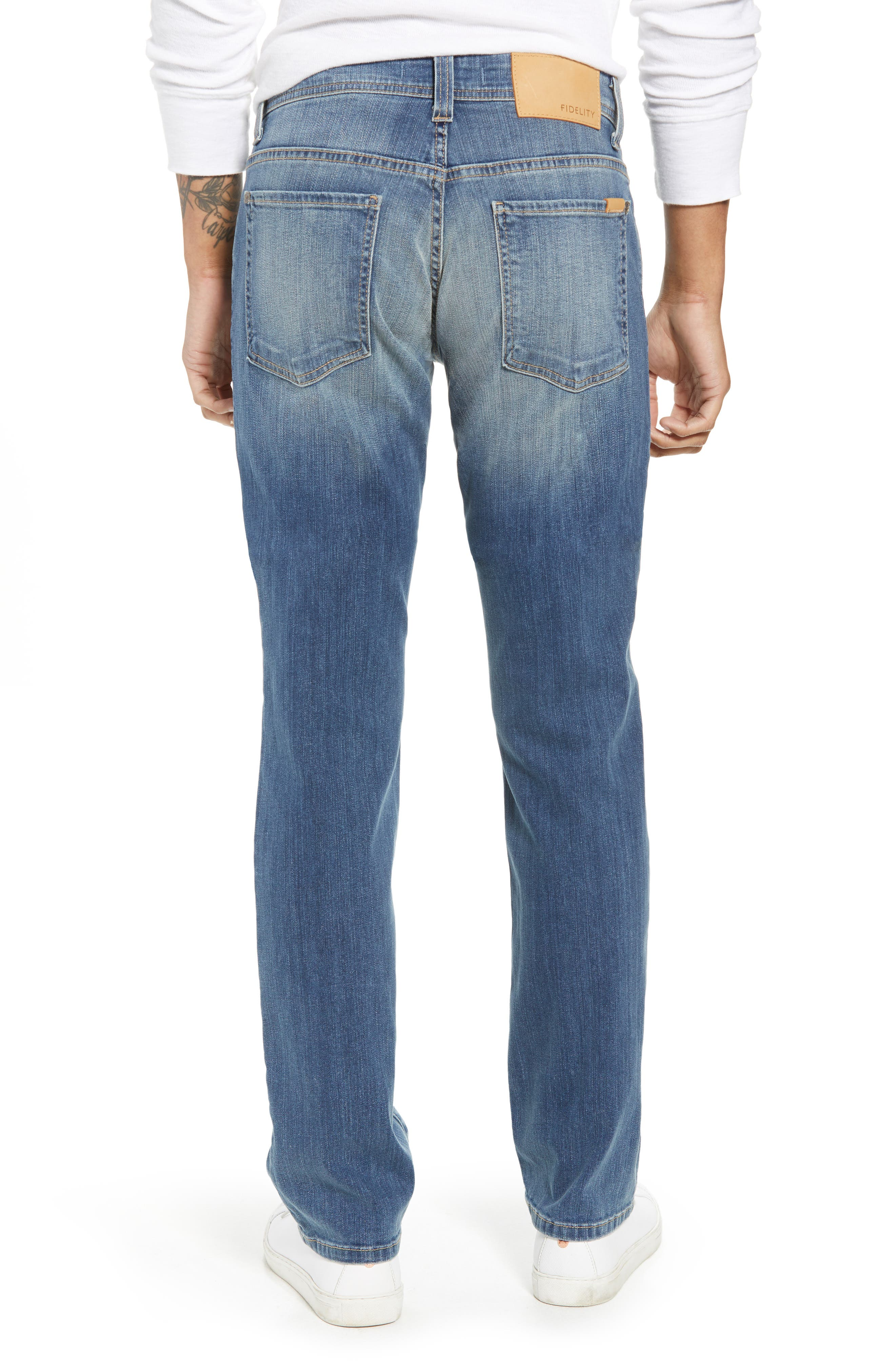 Jimmy Slim Straight Leg Jeans,                             Alternate thumbnail 2, color,                             SYNDICATE BLUE