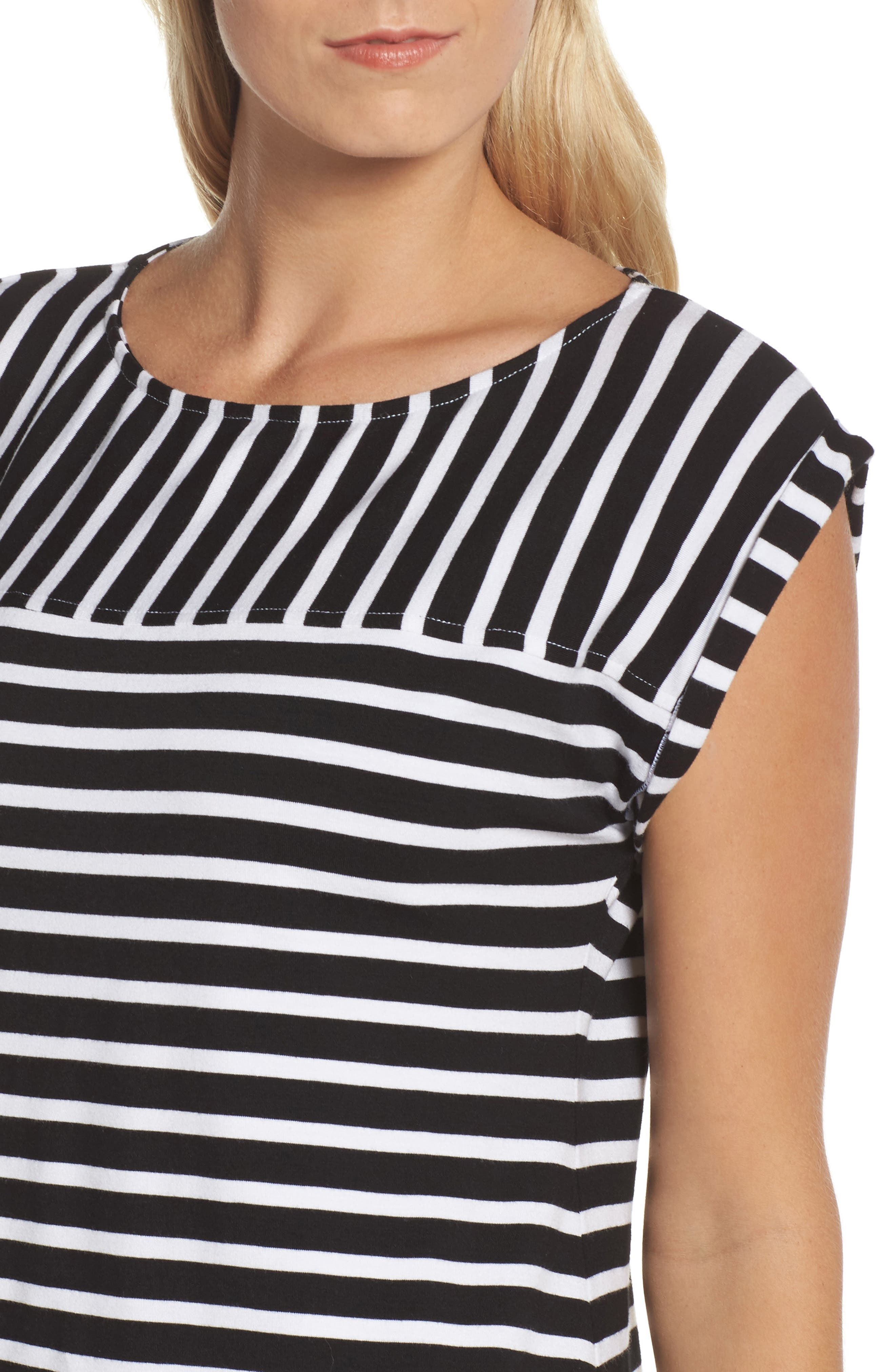 Breton Stripe Cover-Up Dress,                             Alternate thumbnail 4, color,