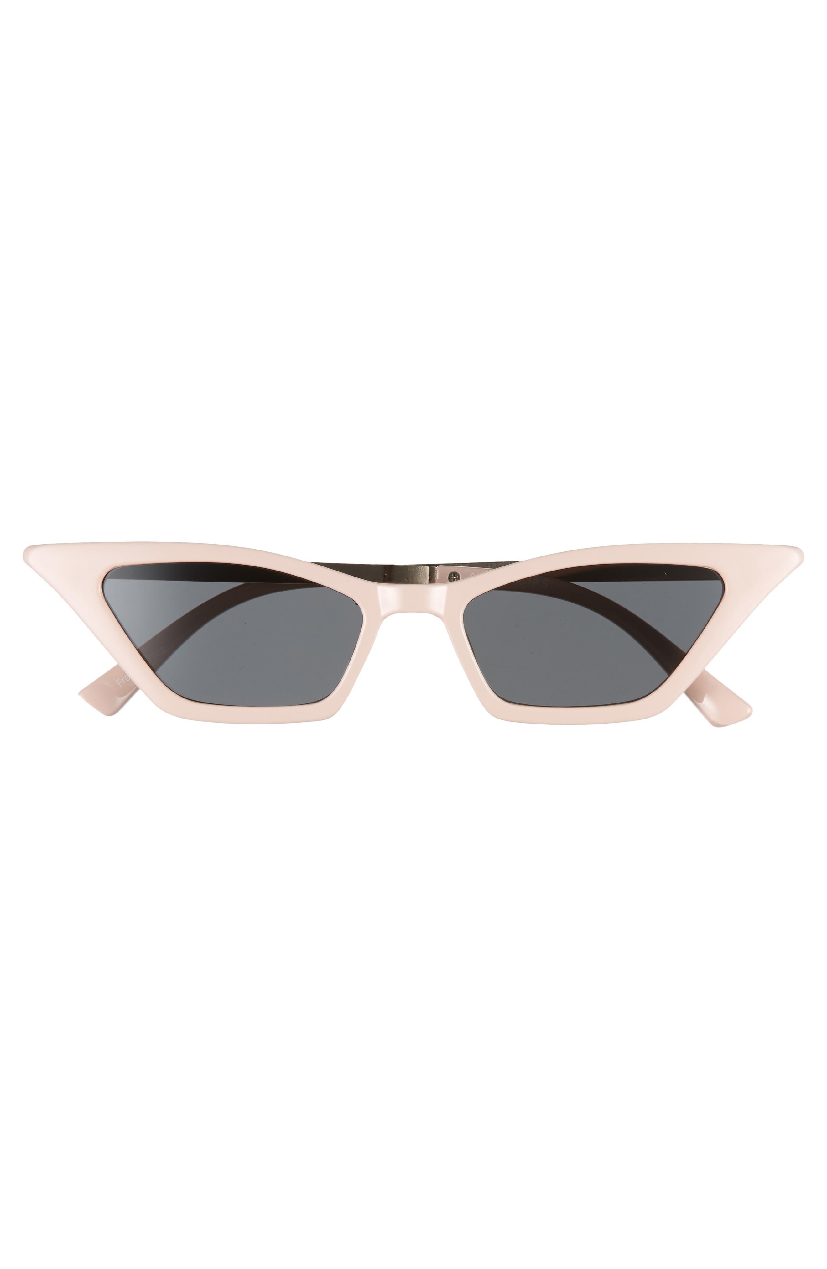 BP. 47mm Mini Cat Eye Sunglasses,                             Alternate thumbnail 3, color,                             GOLD/ PINK