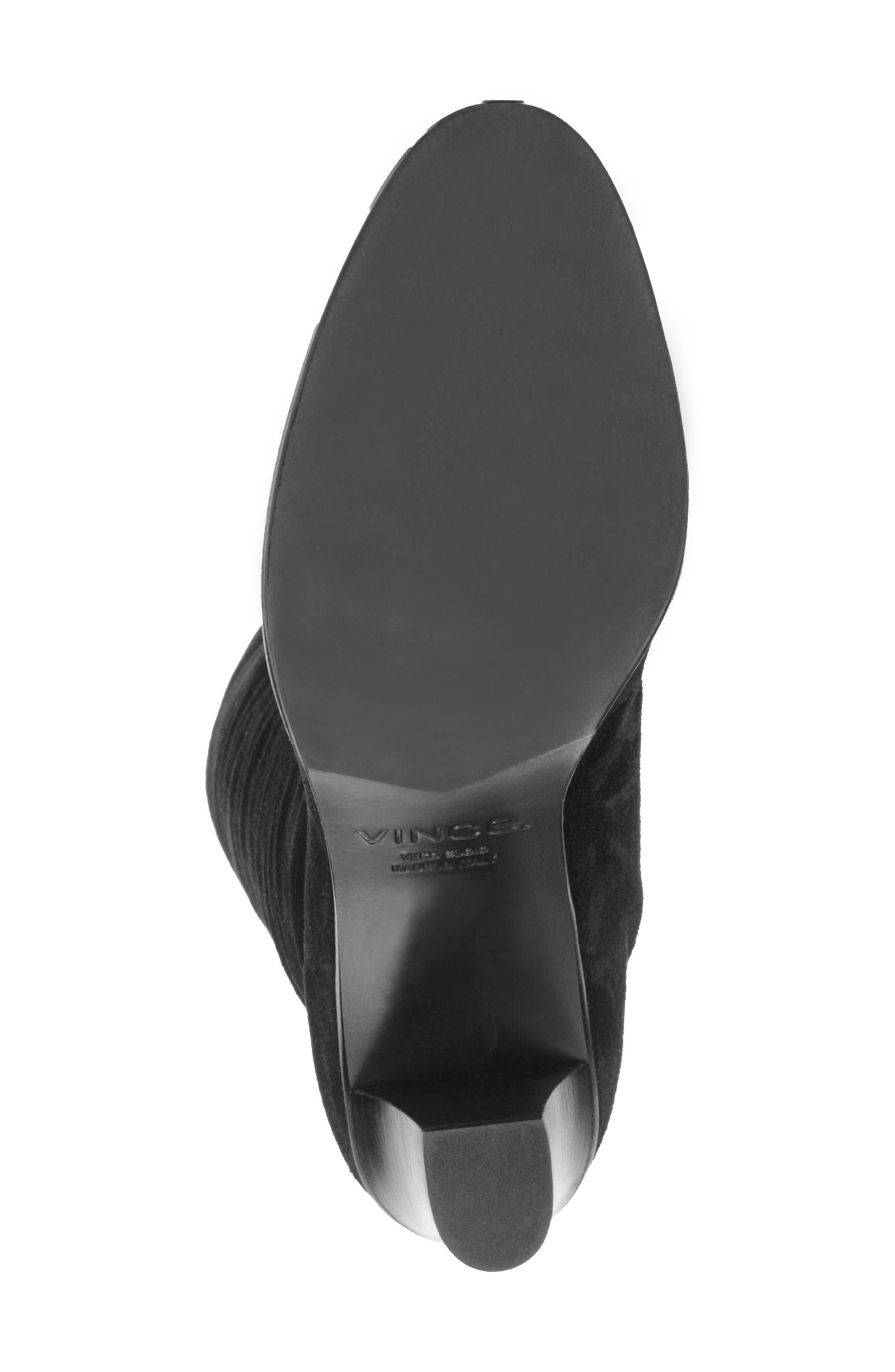 Casper Knee High Pull-On Boot,                             Alternate thumbnail 6, color,                             BLACK