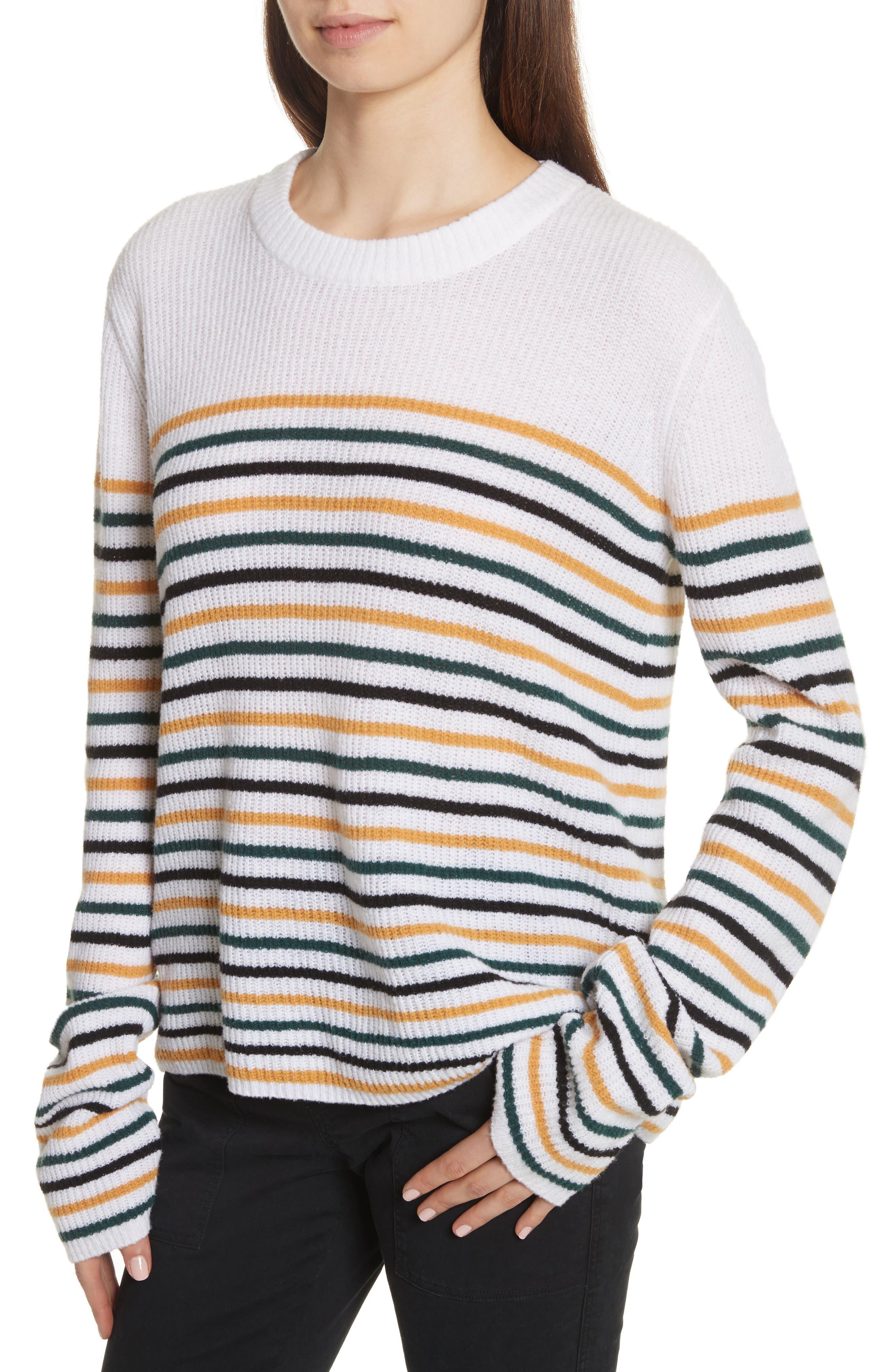 Meryl Stripe Sweater,                             Alternate thumbnail 8, color,