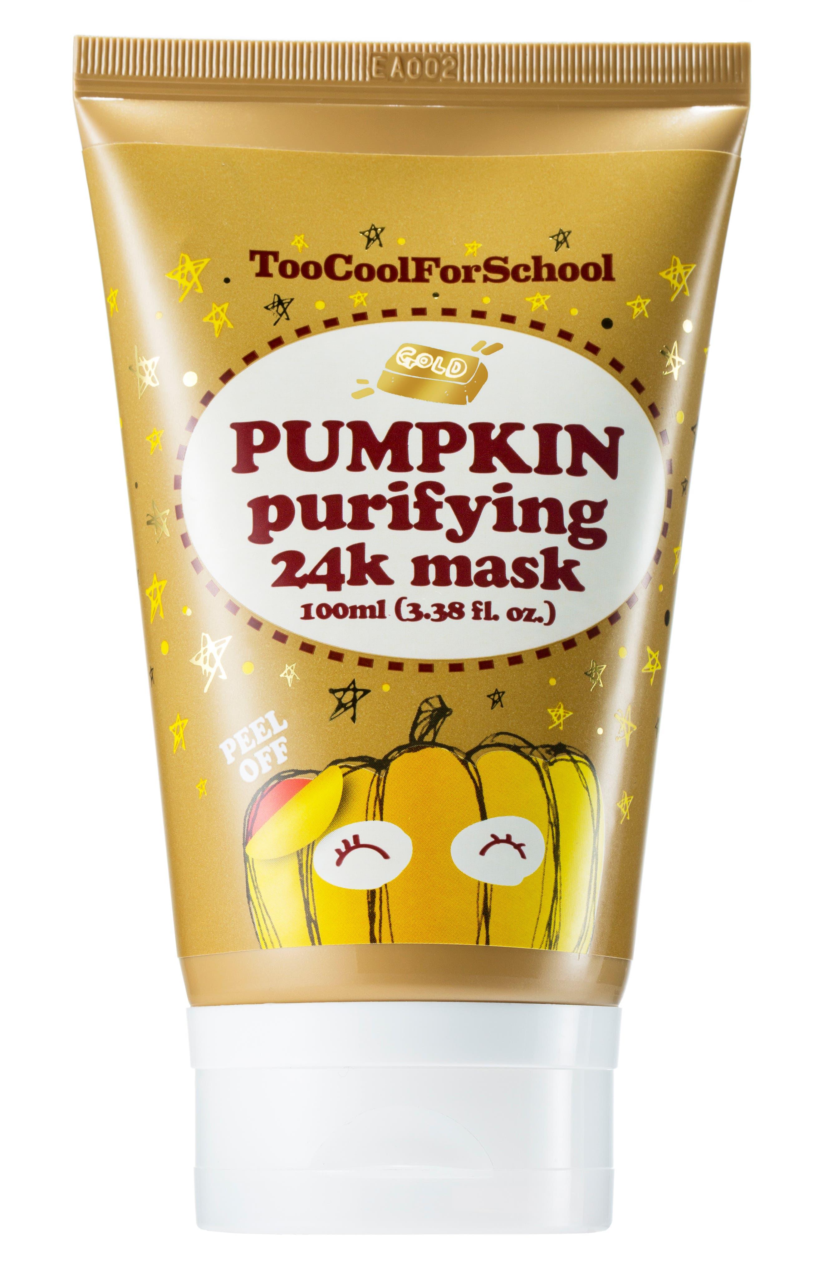 Pumpkin Purifying 24K Peel-Off Mask,                         Main,                         color, NO COLOR