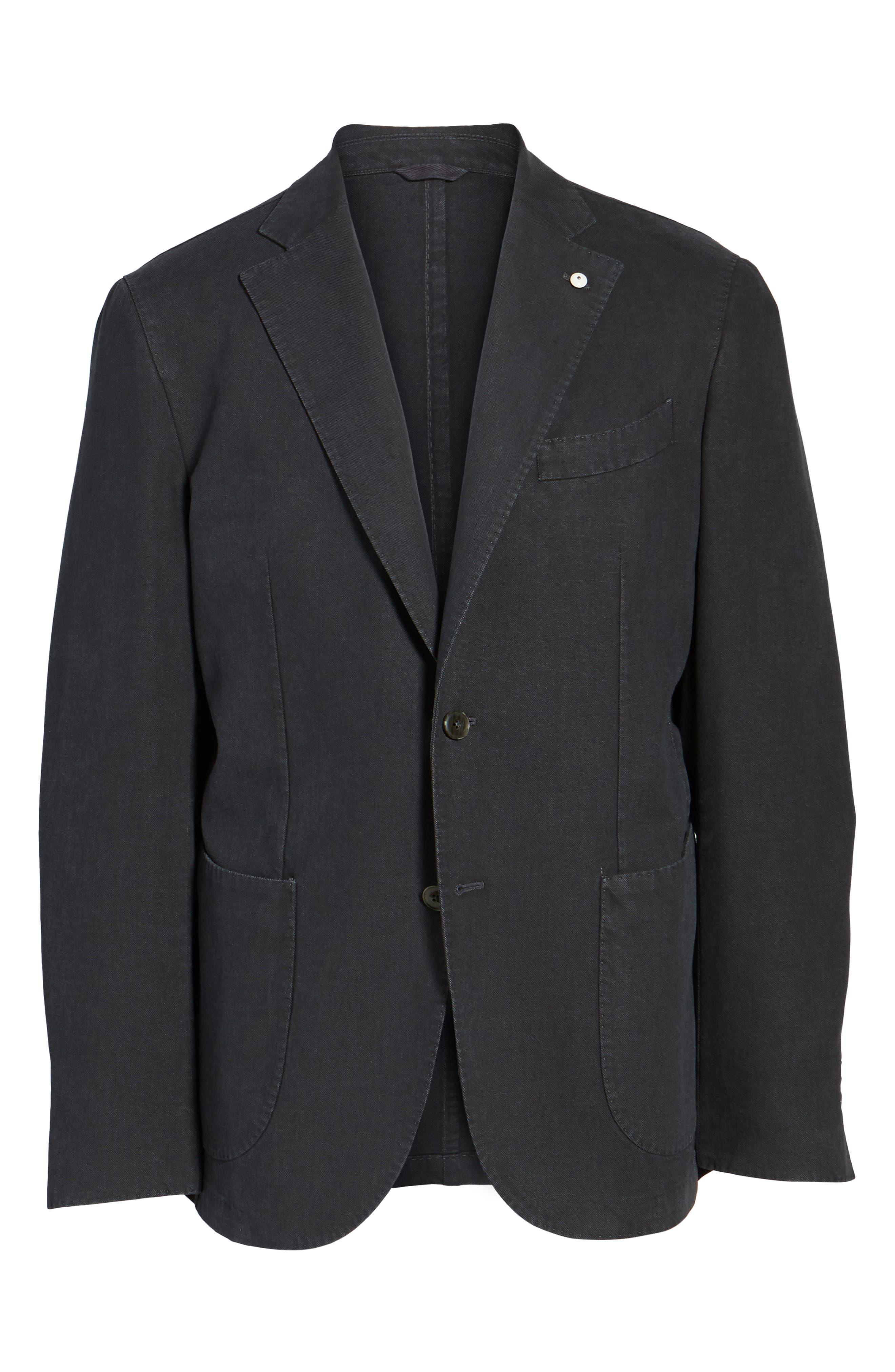 Classic Fit Cotton Blend Blazer,                             Alternate thumbnail 5, color,                             001