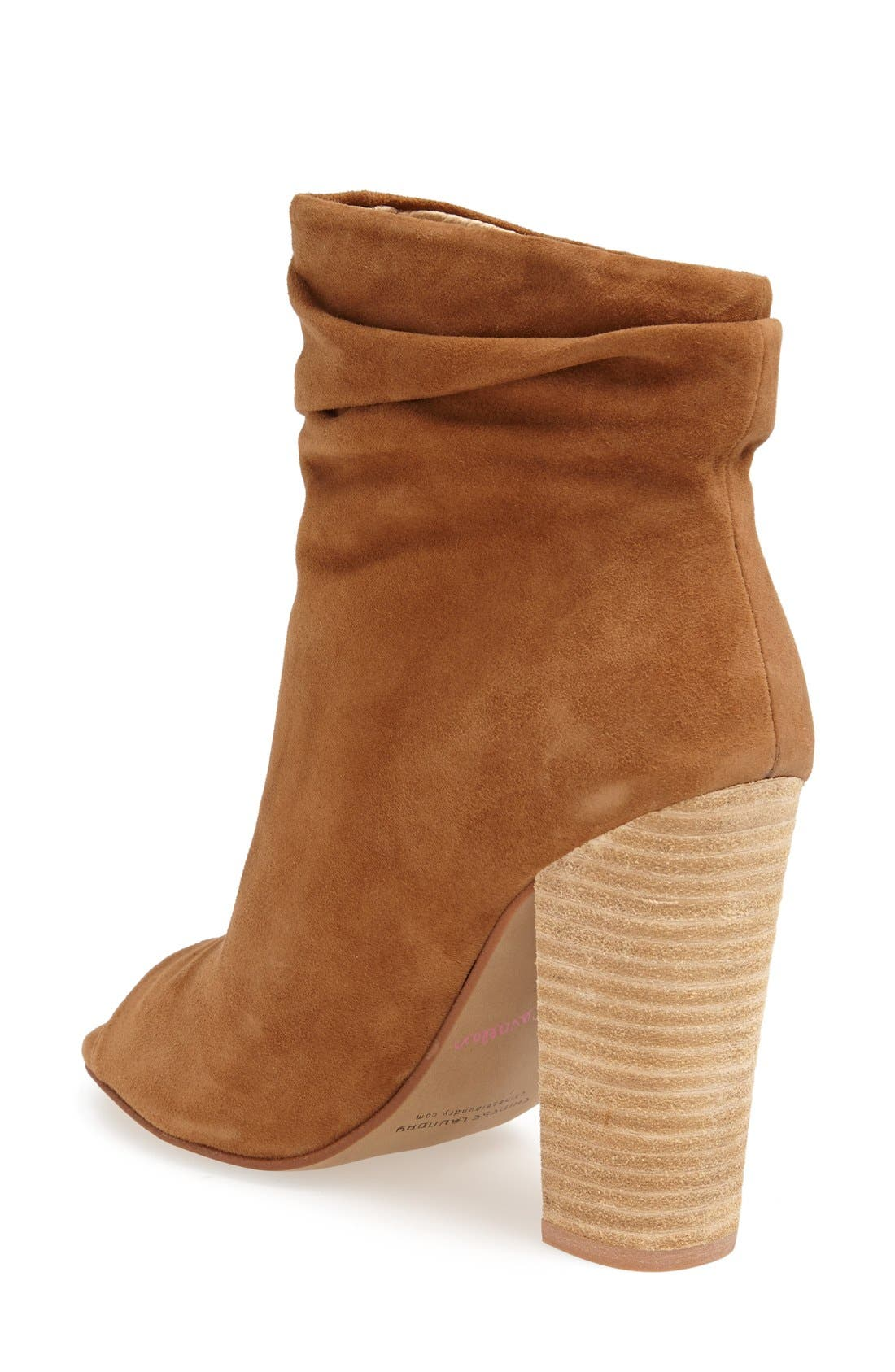 'Laurel' Peep Toe Bootie,                             Alternate thumbnail 12, color,