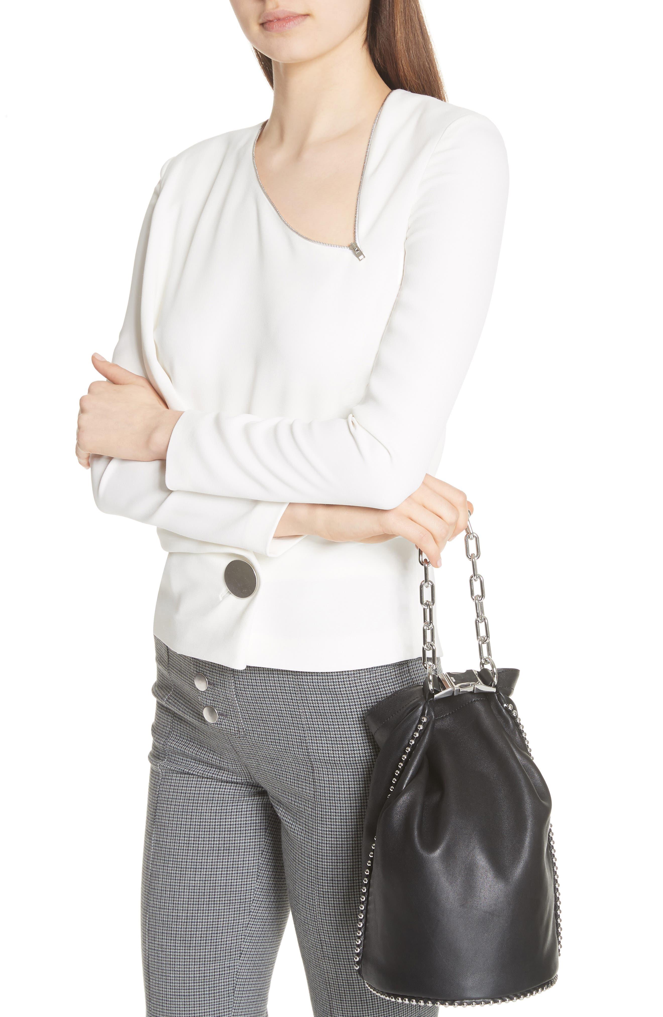 Attica Dry Sack Leather Bucket Bag,                             Alternate thumbnail 2, color,                             BLACK