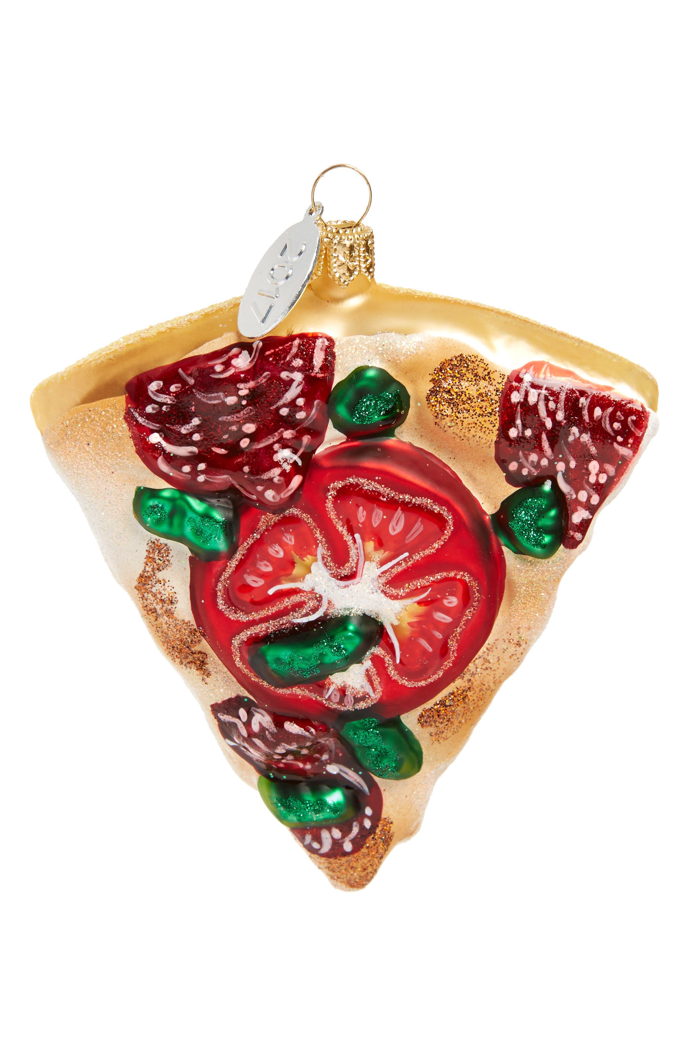 Pizza Glass Ornament,                             Main thumbnail 1, color,                             100