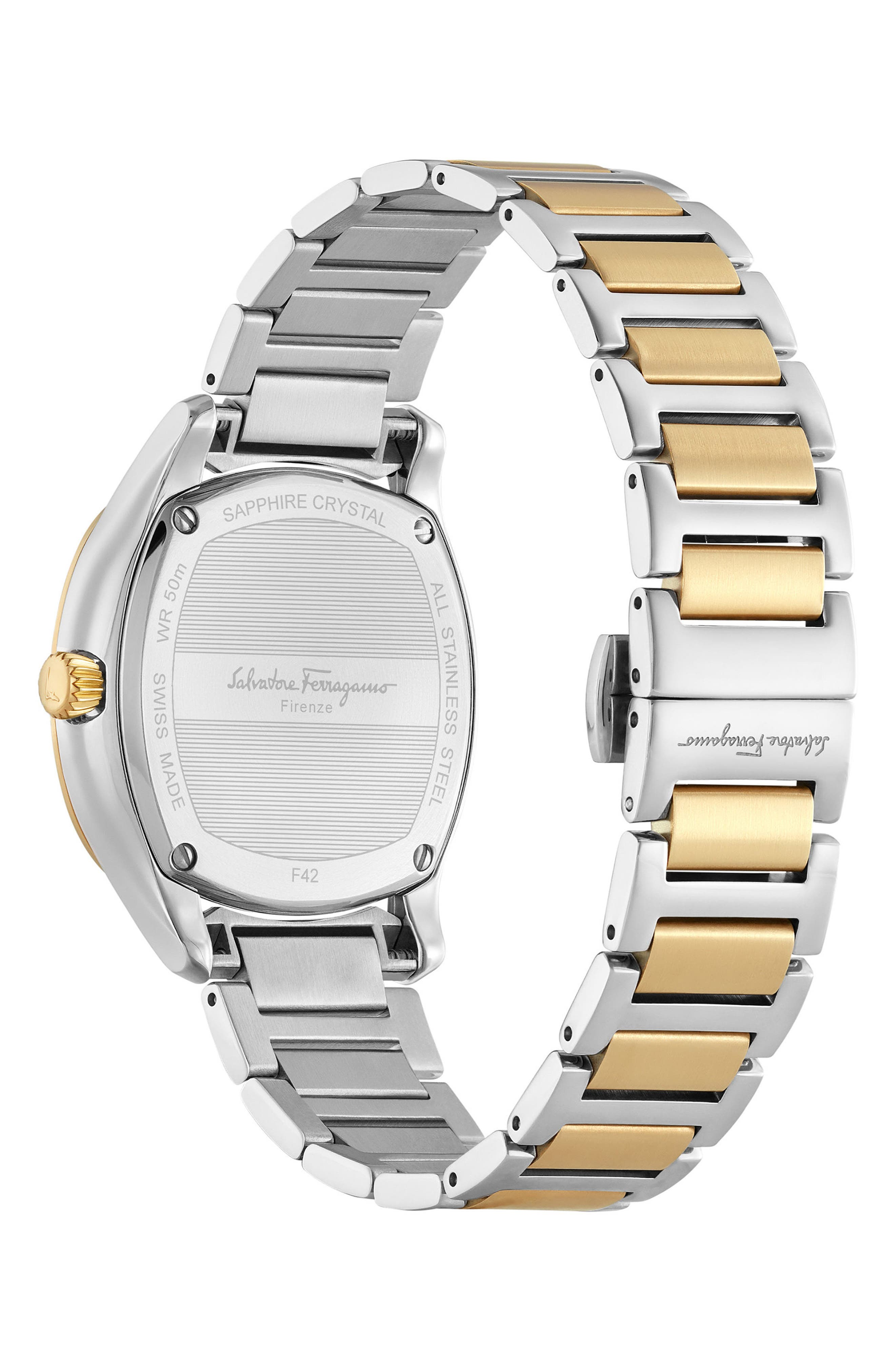 Feroni Bracelet Watch, 36mm,                             Alternate thumbnail 2, color,                             SILVER/ GOLD