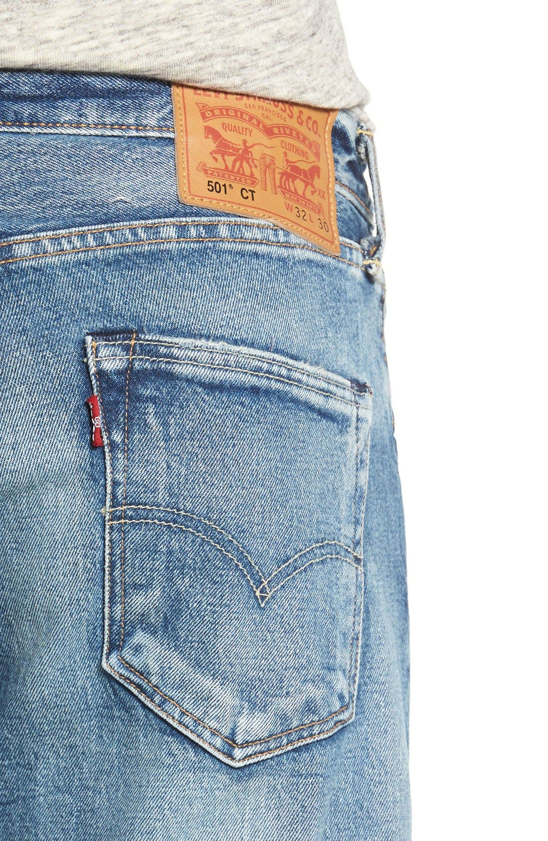 LEVI'S<SUP>®</SUP>,                             '501<sup>®</sup> CT' Custom Tapered Fit Jeans,                             Alternate thumbnail 4, color,                             405
