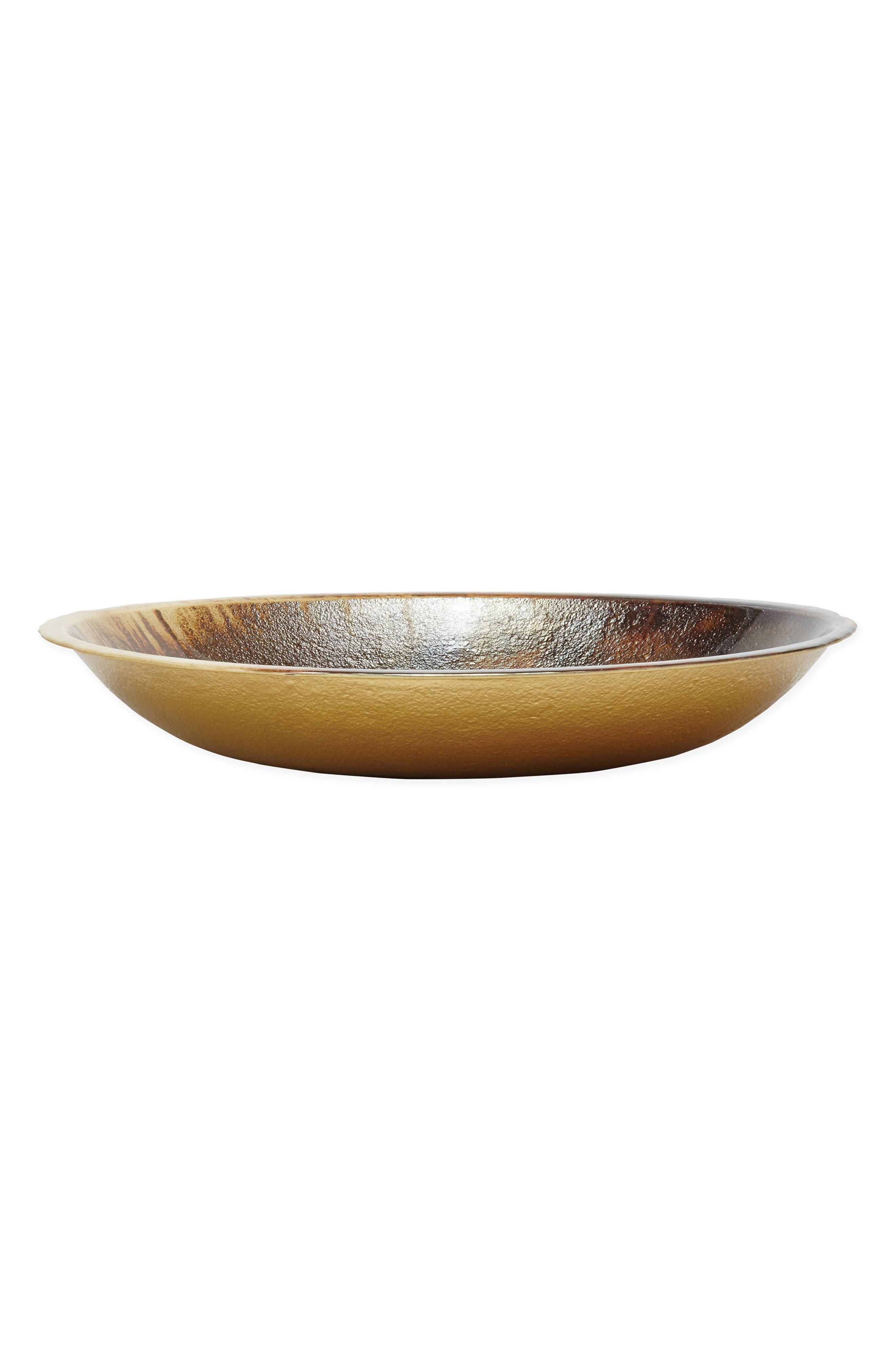 Earth Glass Centerpiece,                             Alternate thumbnail 2, color,                             BROWN/ GOLD