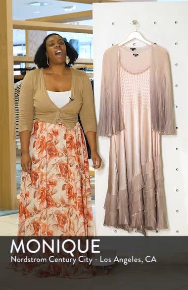 Tiered Hem Ombré Dress with Jacket, sales video thumbnail