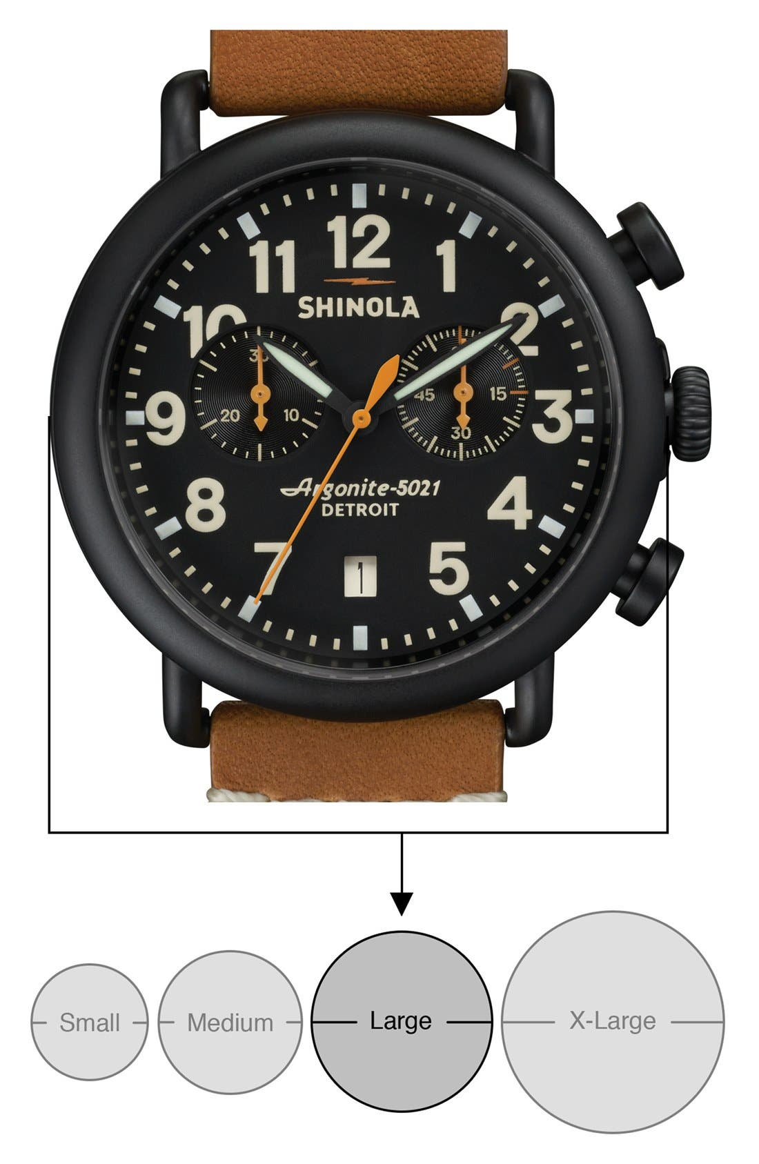 'The Runwell Chrono' Leather Strap Watch, 41mm,                             Alternate thumbnail 20, color,