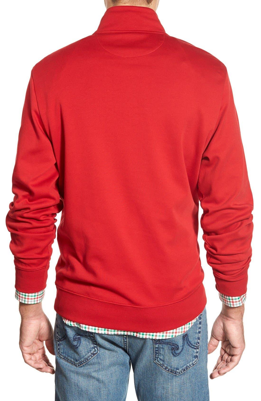 Quarter Zip Cotton Jersey Sweatshirt,                             Alternate thumbnail 5, color,                             020