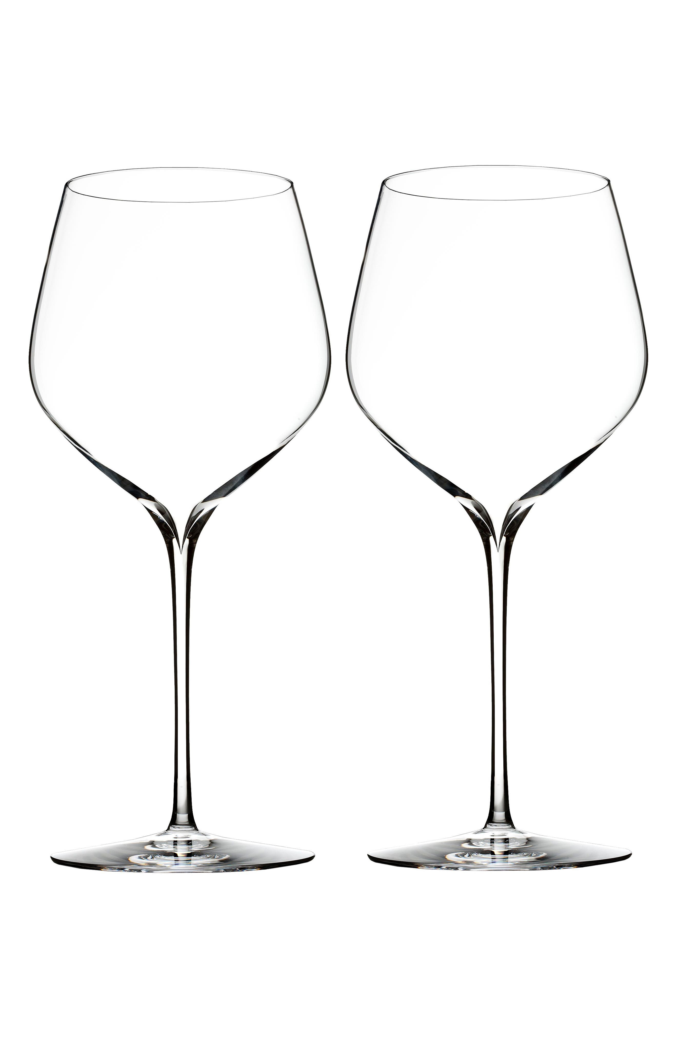 'Elegance' Fine Crystal Cabernet Sauvignon Glasses,                             Alternate thumbnail 2, color,                             100
