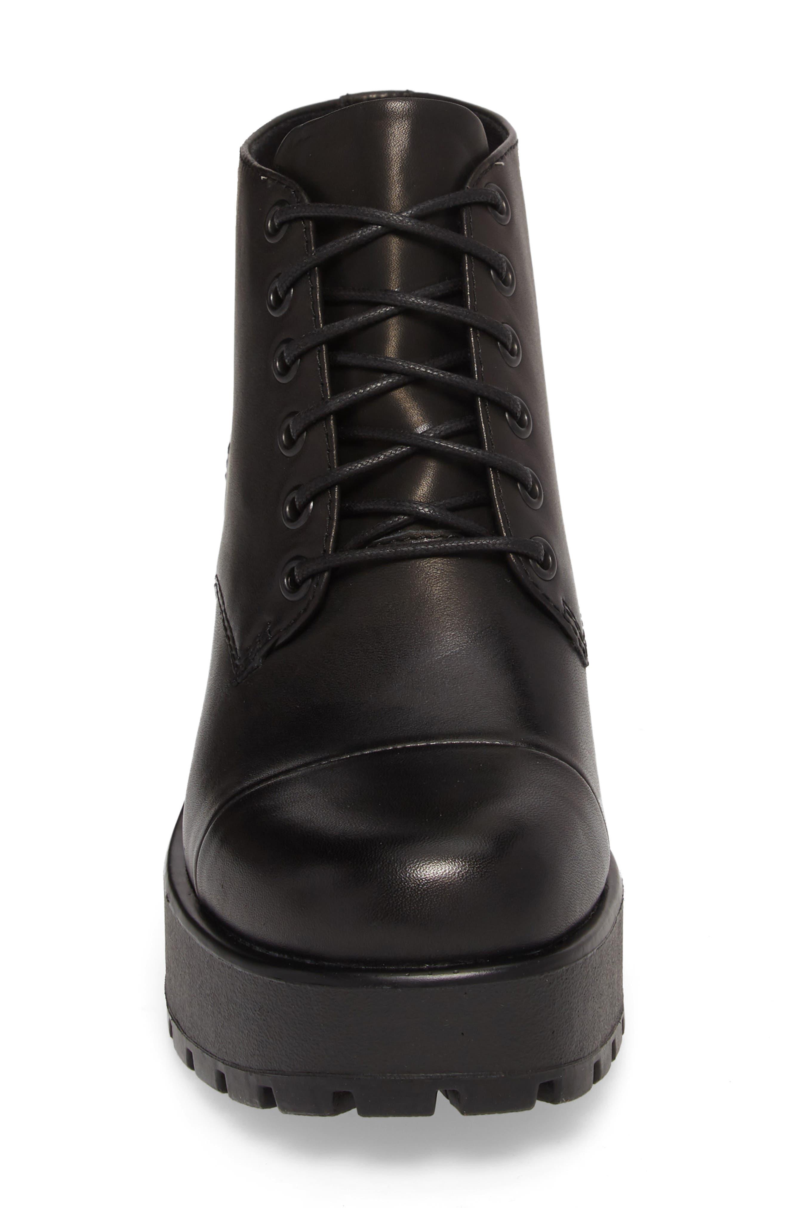 VAGABOND,                             Shoemakers Dioon Cap Toe Bootie,                             Alternate thumbnail 4, color,                             BLACK LEATHER