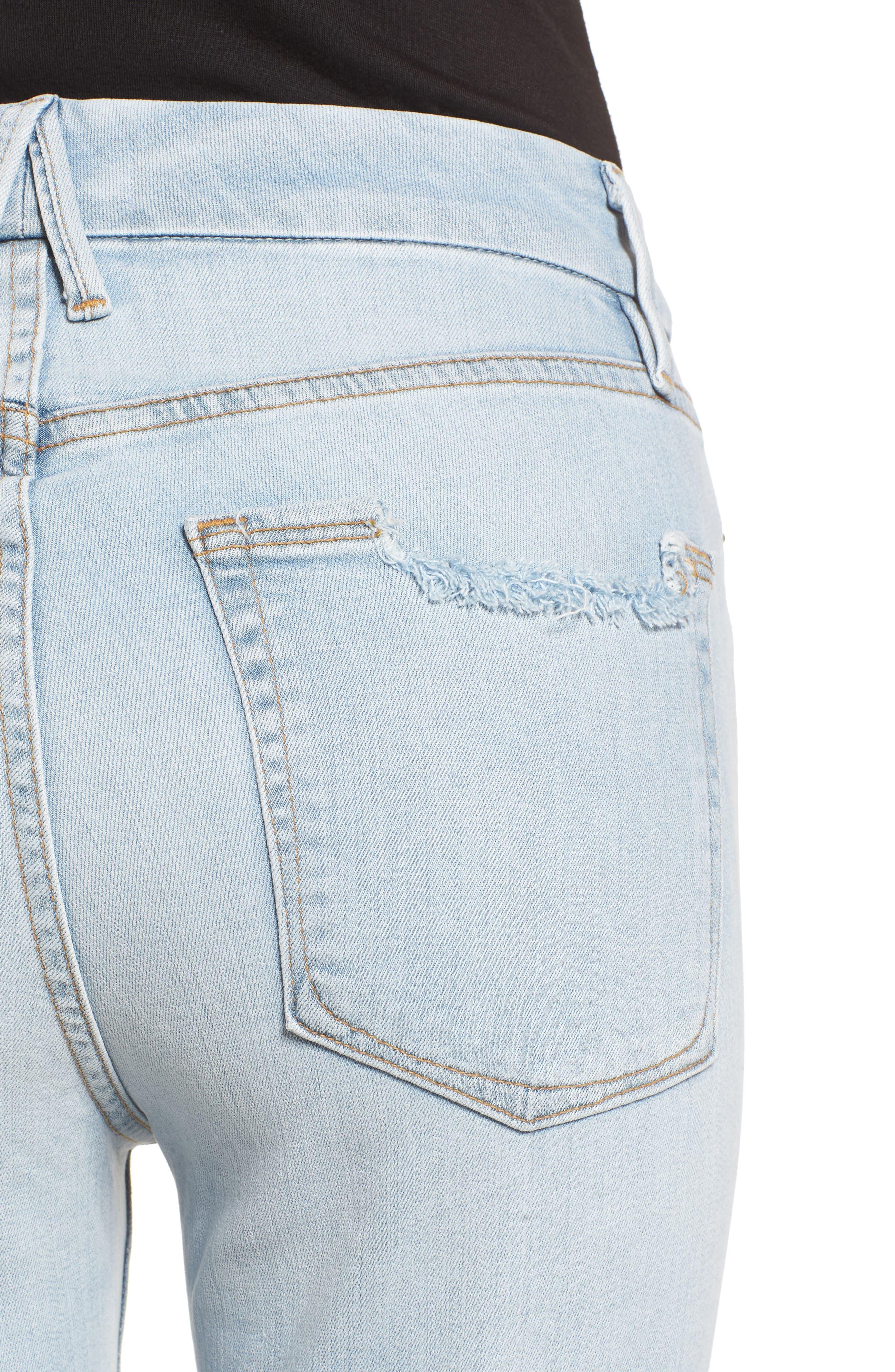 Good Legs High Waist Crop Skinny Jeans,                             Alternate thumbnail 6, color,                             401