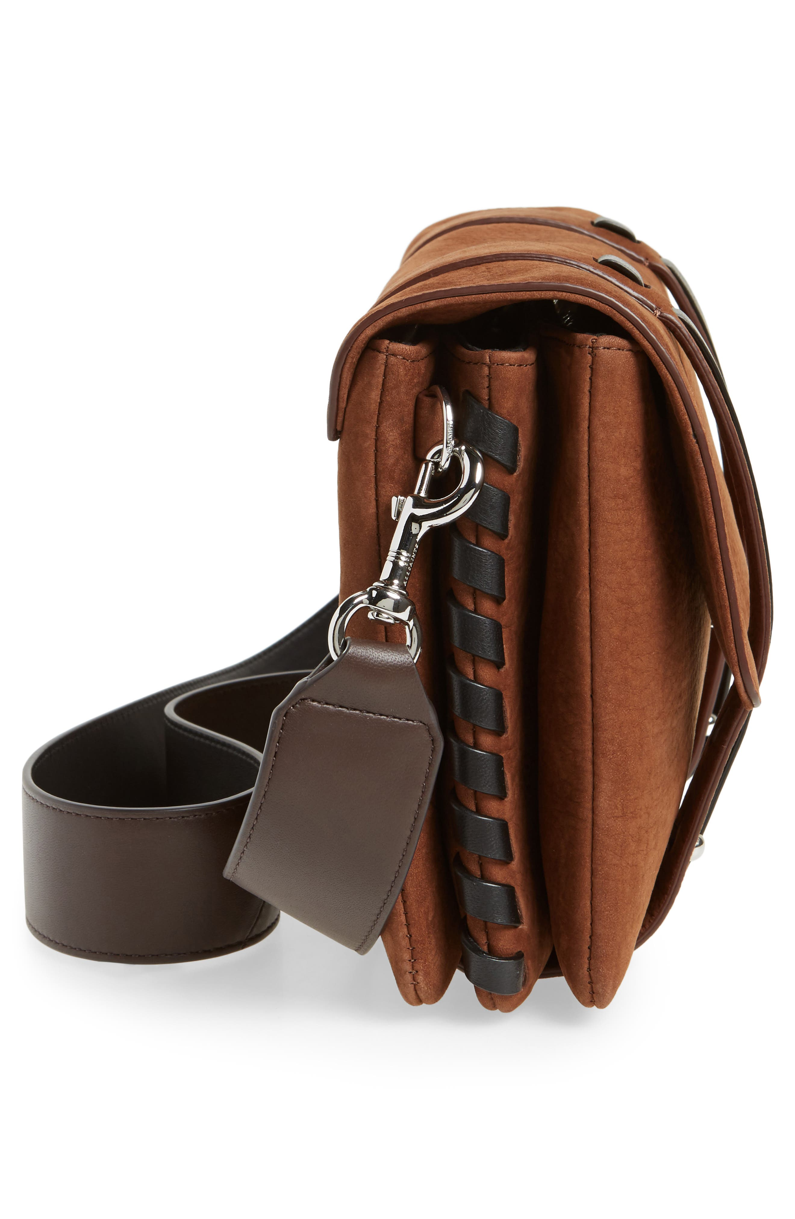 Fin Leather Box Bag,                             Alternate thumbnail 5, color,                             200