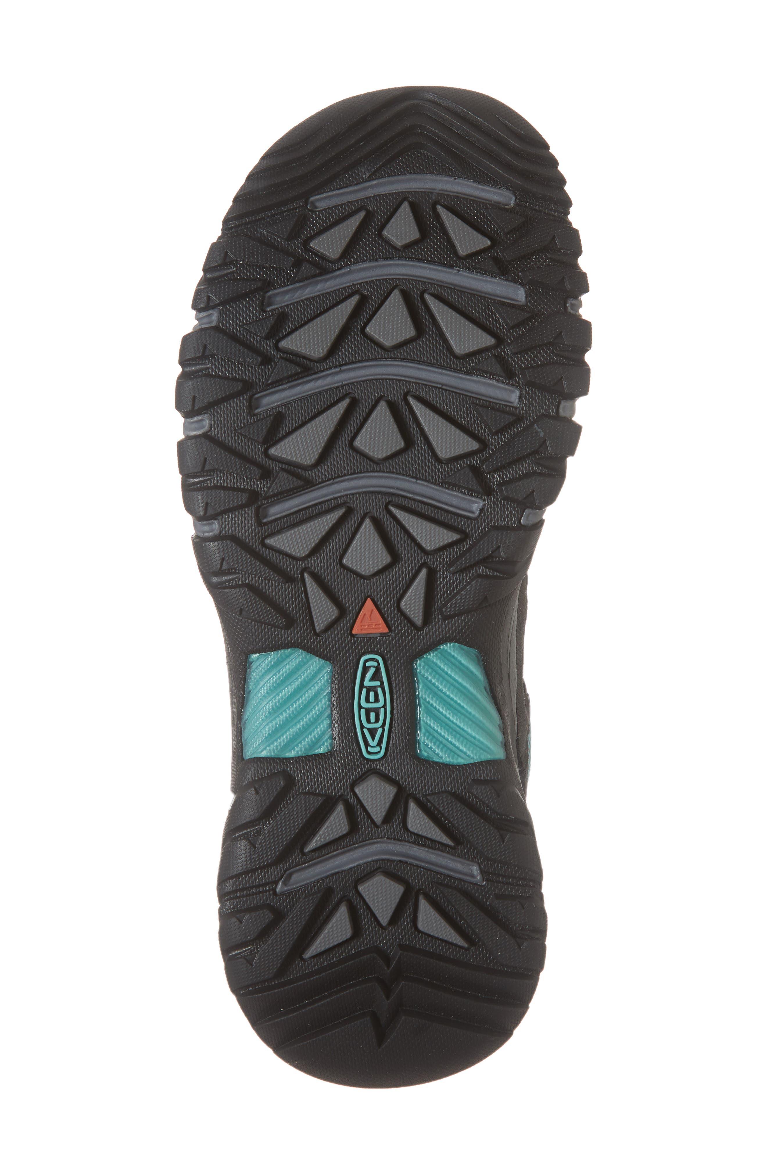 Targhee III Waterproof Hiking Shoe,                             Alternate thumbnail 6, color,                             ALCATRAZ/ TURQUOISE LEATHER