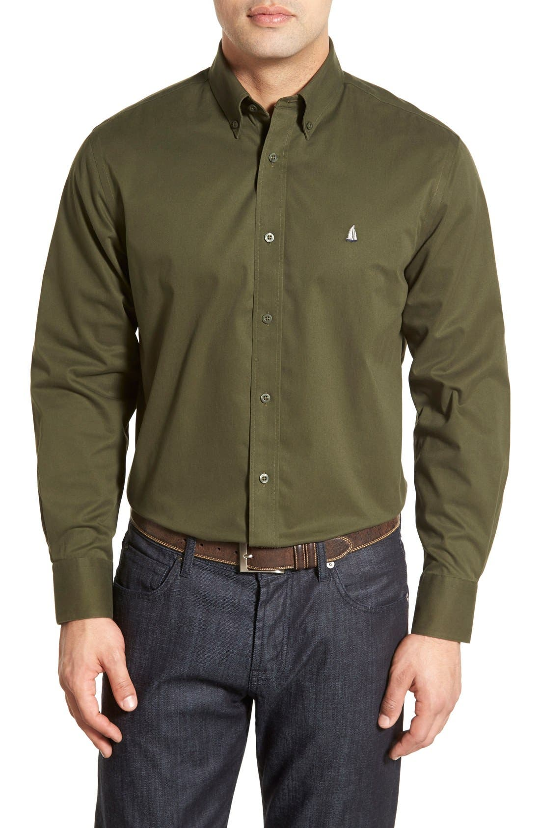 Smartcare<sup>™</sup> Traditional Fit Twill Boat Shirt,                             Main thumbnail 16, color,