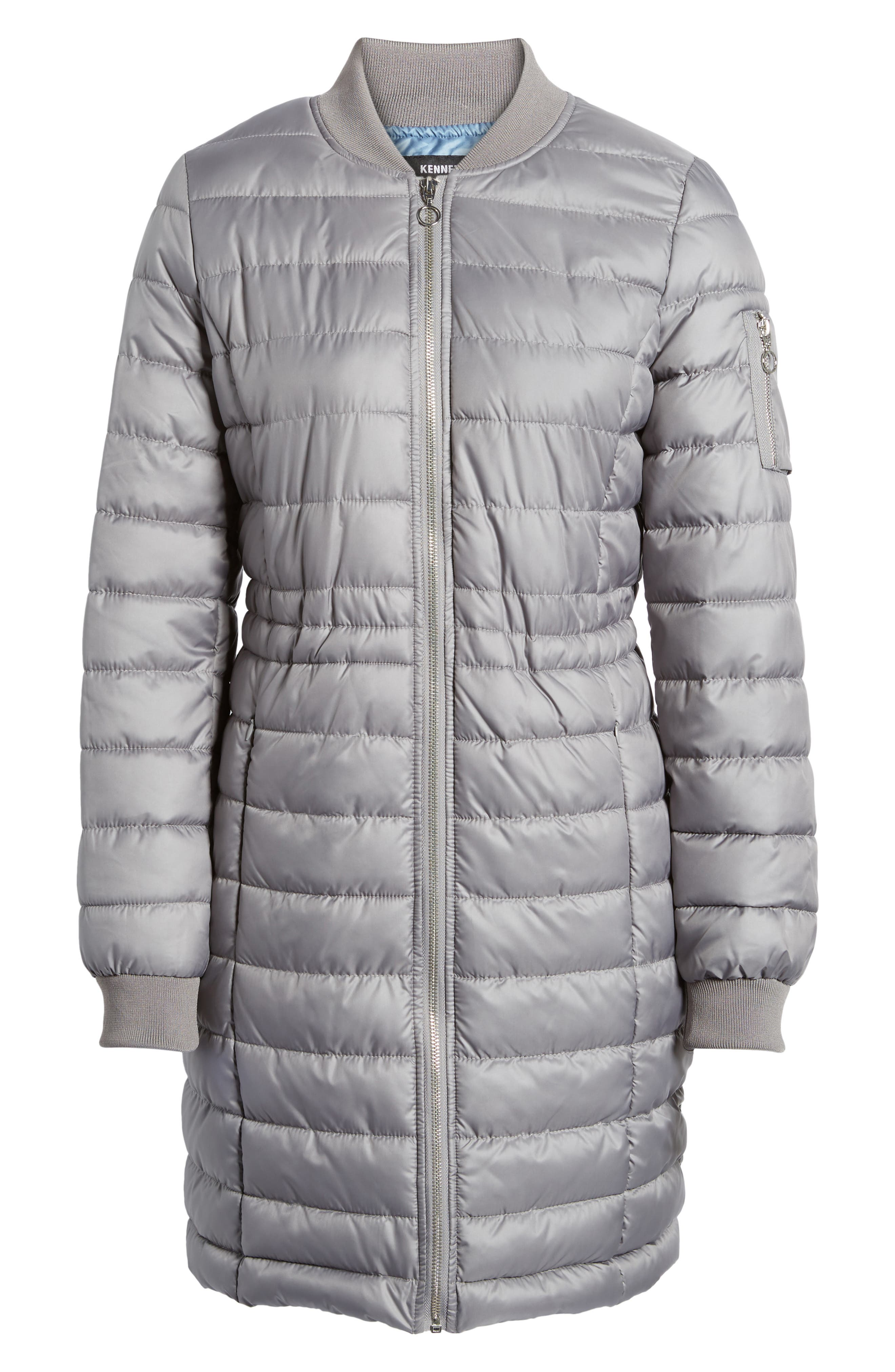 Lightweight Quilted Puffer Coat,                             Alternate thumbnail 18, color,