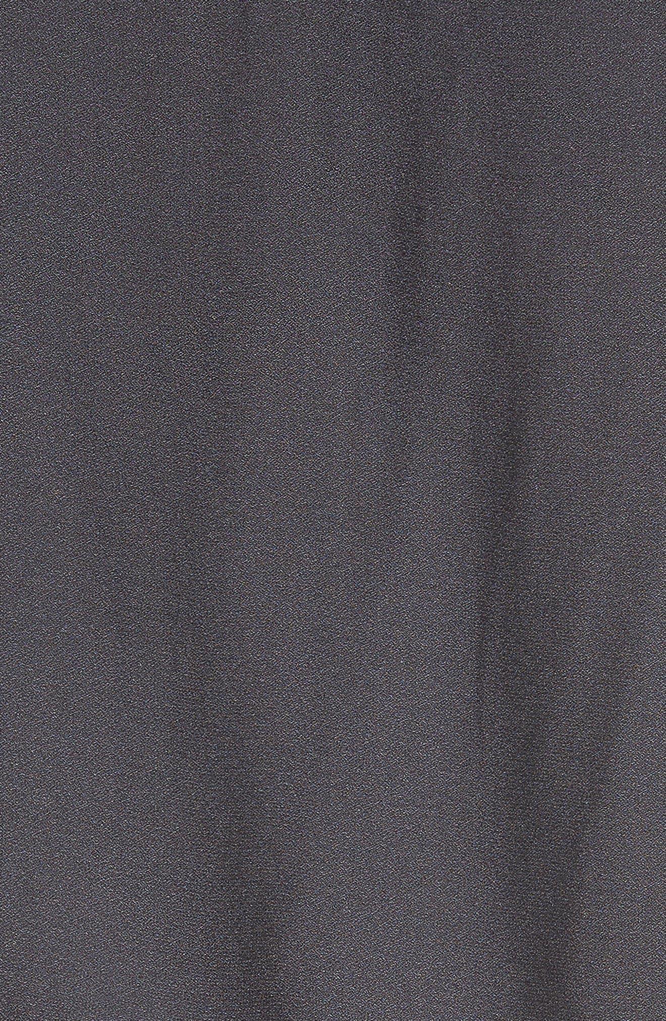 Tie Front Shirt,                             Alternate thumbnail 5, color,                             GREY DEPTHS