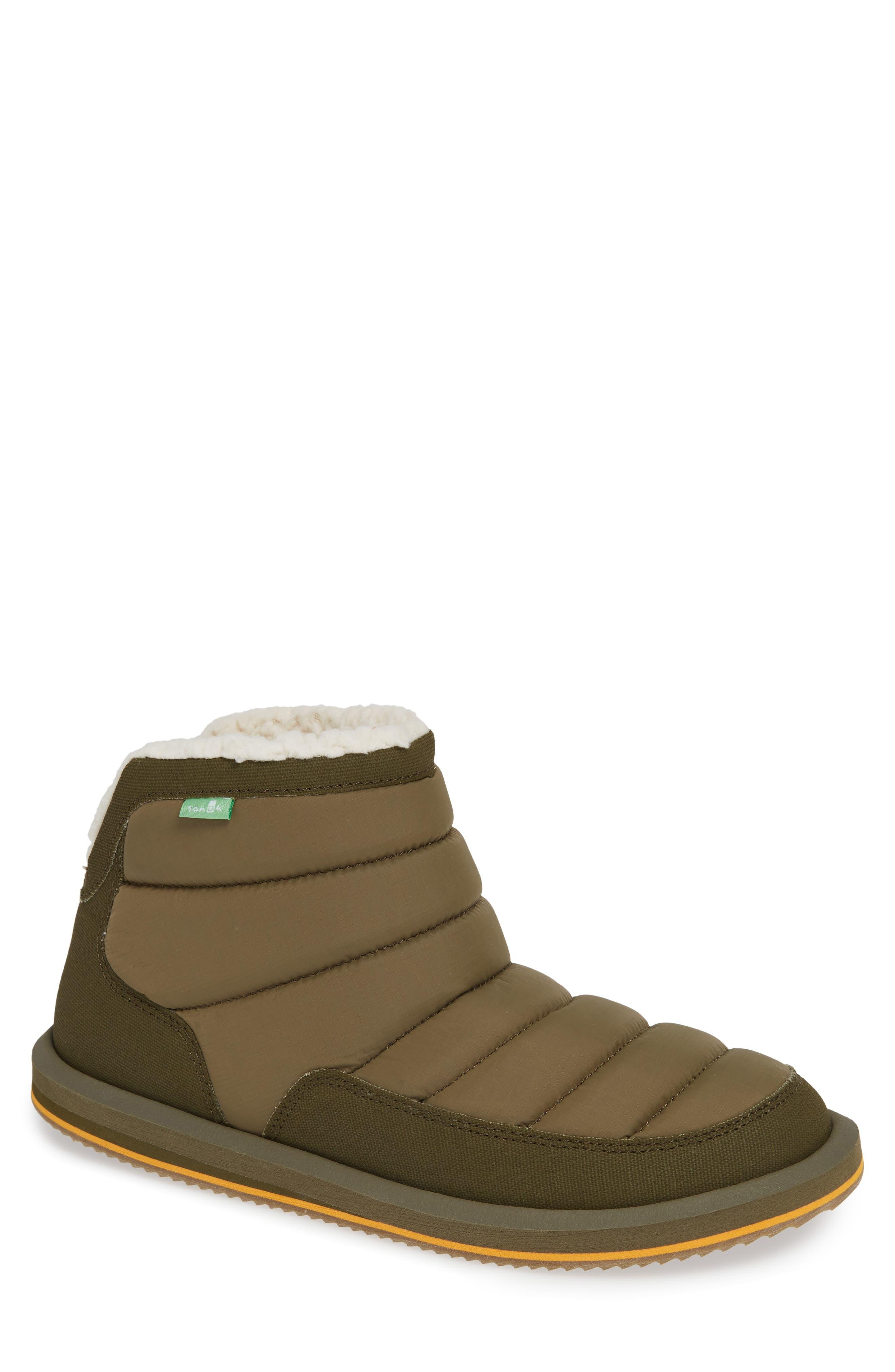Sanuk Puff & Chill Weather Boot, Green