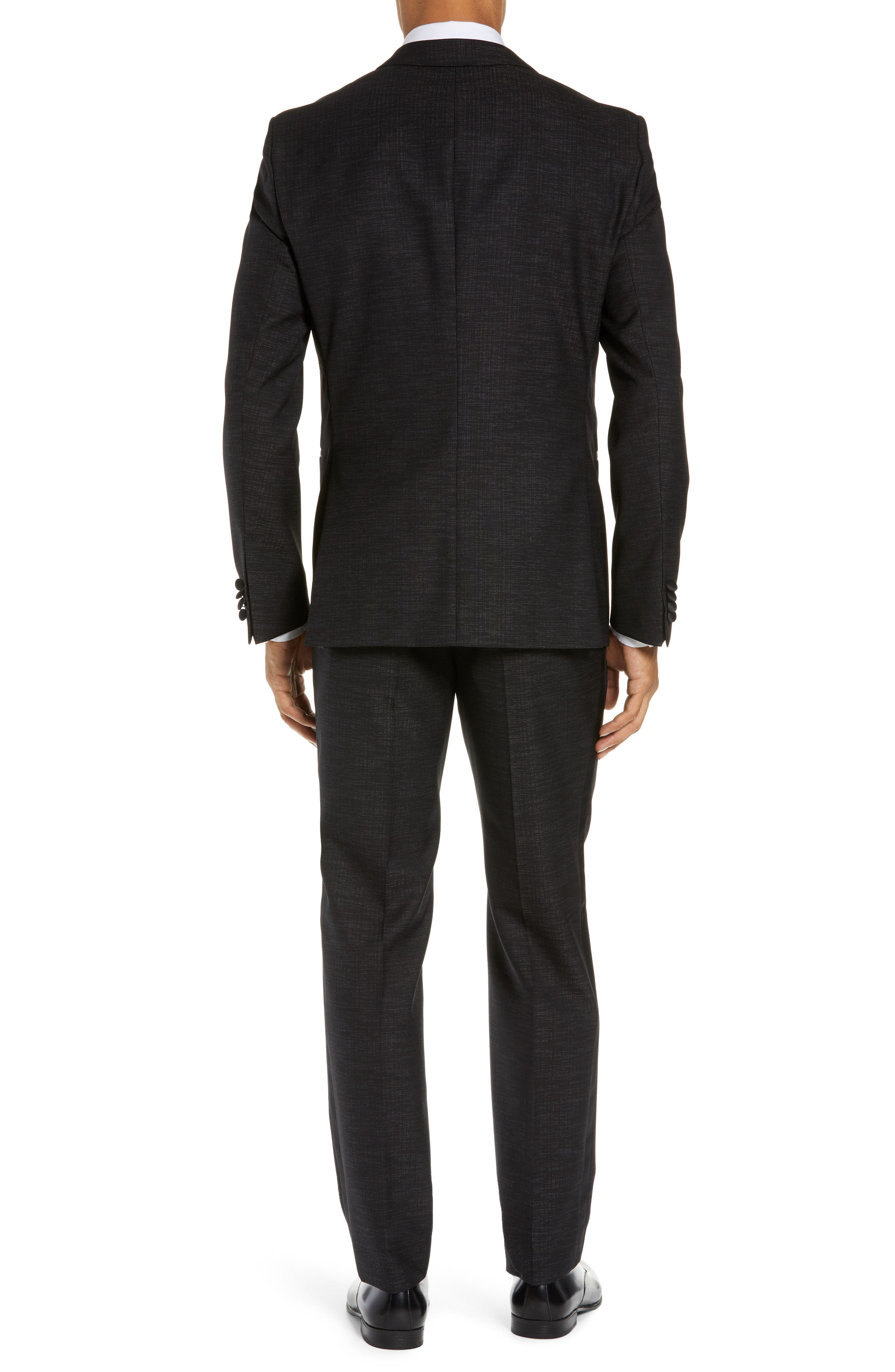 BOSS,                             Rendal/Wilden Slim Fit Three-Piece Tuxedo,                             Alternate thumbnail 2, color,                             BLACK