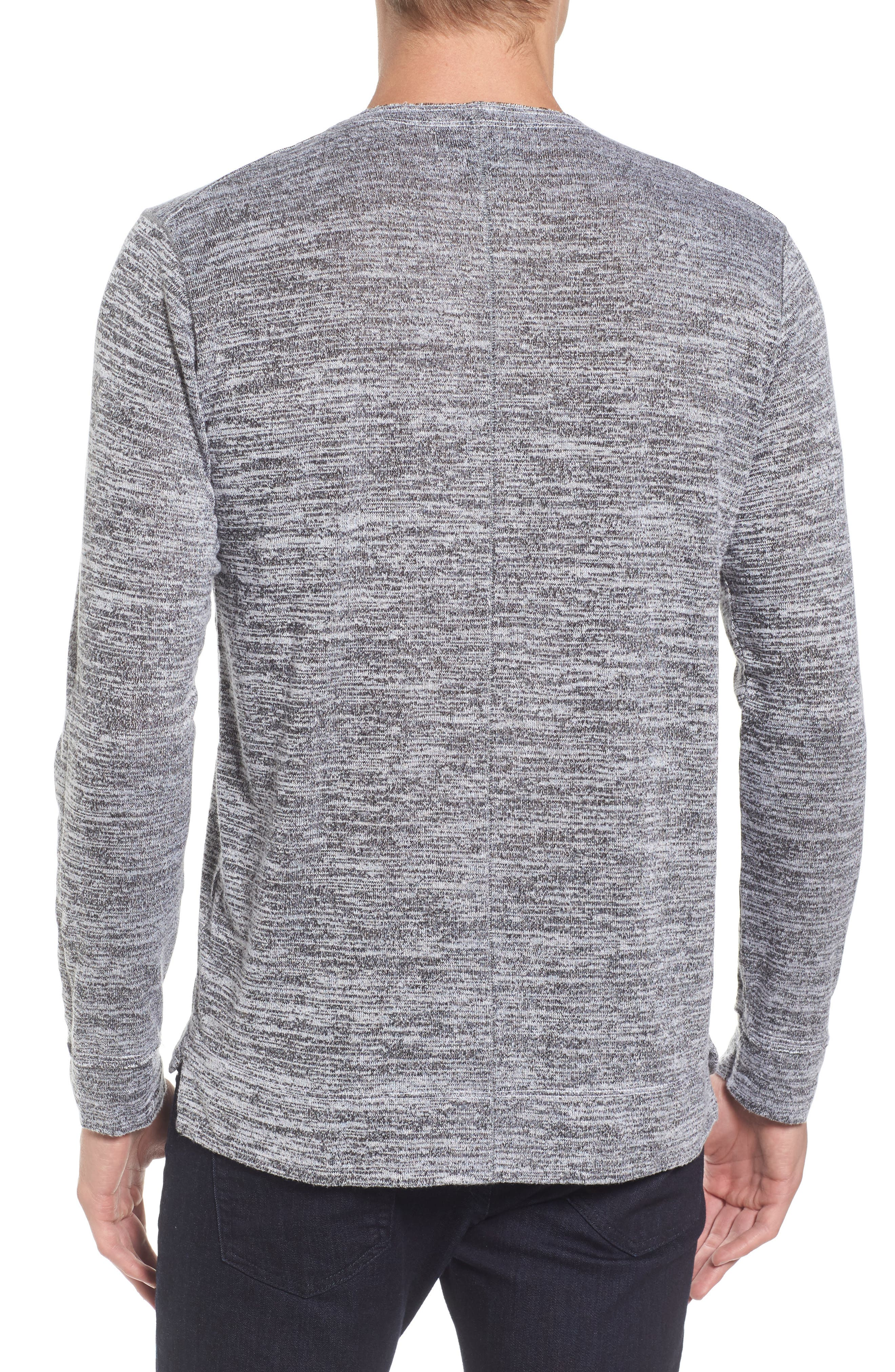 Modern Trim Marled Long Sleeve T-Shirt,                             Alternate thumbnail 2, color,                             024