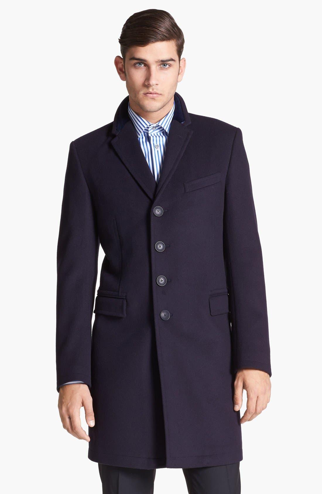 Tailored Wool Topcoat,                             Main thumbnail 1, color,                             414