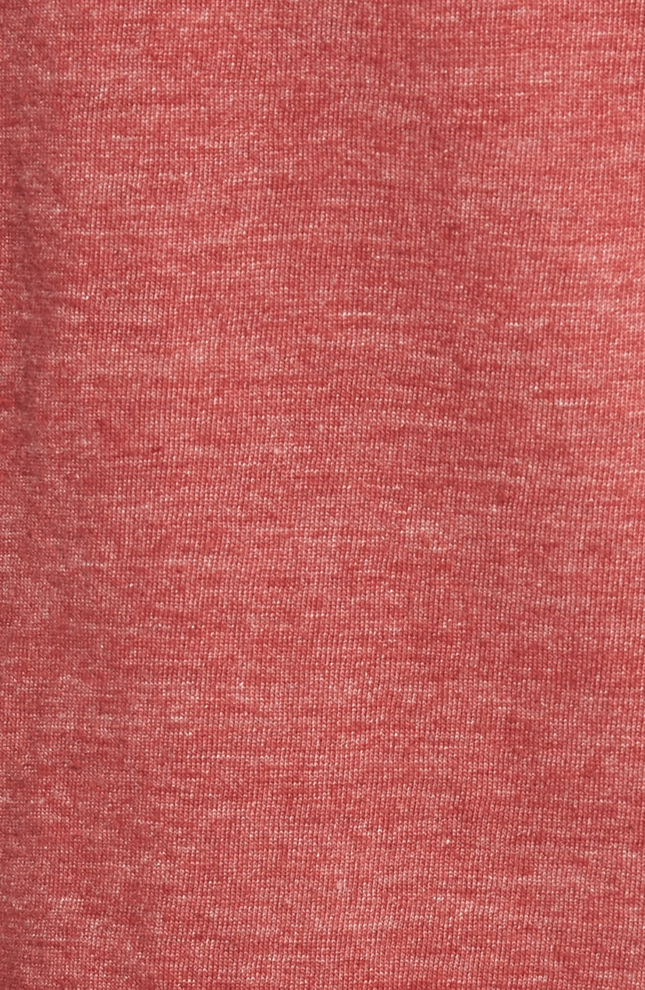 Scallop Triblend V-Neck T-Shirt,                             Alternate thumbnail 105, color,