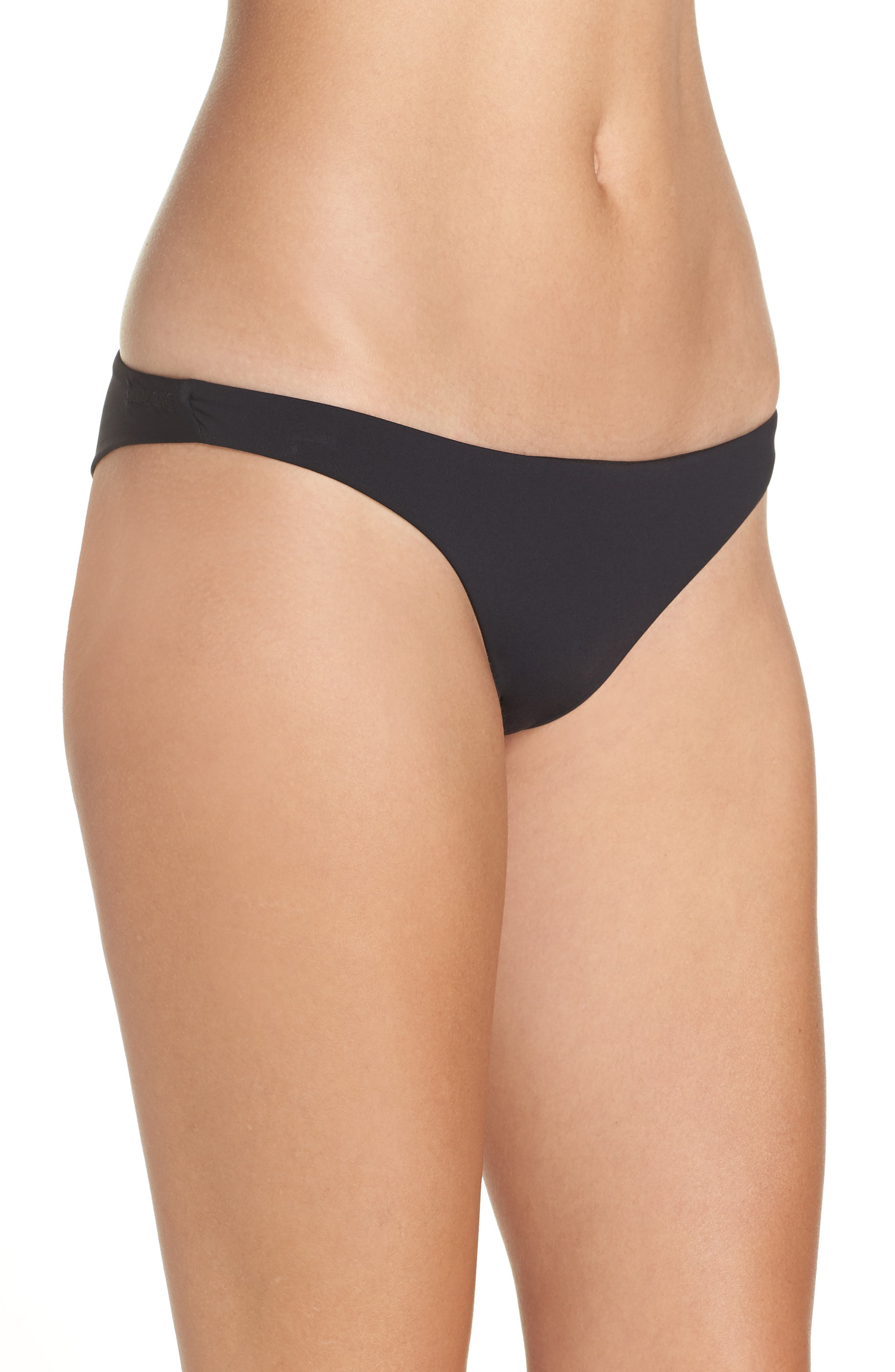 Sol Searcher Tanga Cheeky Bikini Bottom,                             Alternate thumbnail 3, color,                             001