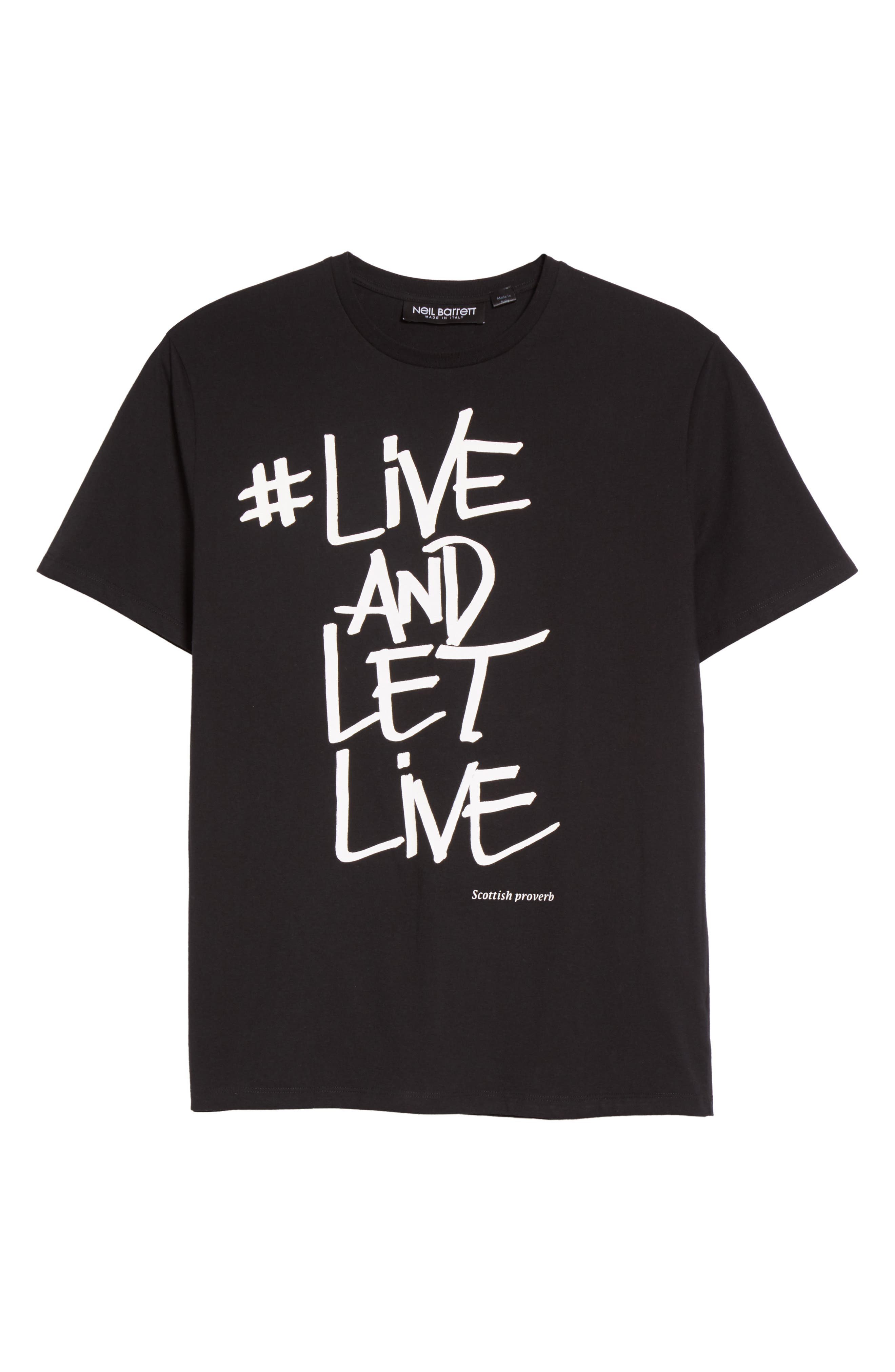 Live & Let Live Graphic T-Shirt,                             Alternate thumbnail 6, color,                             001