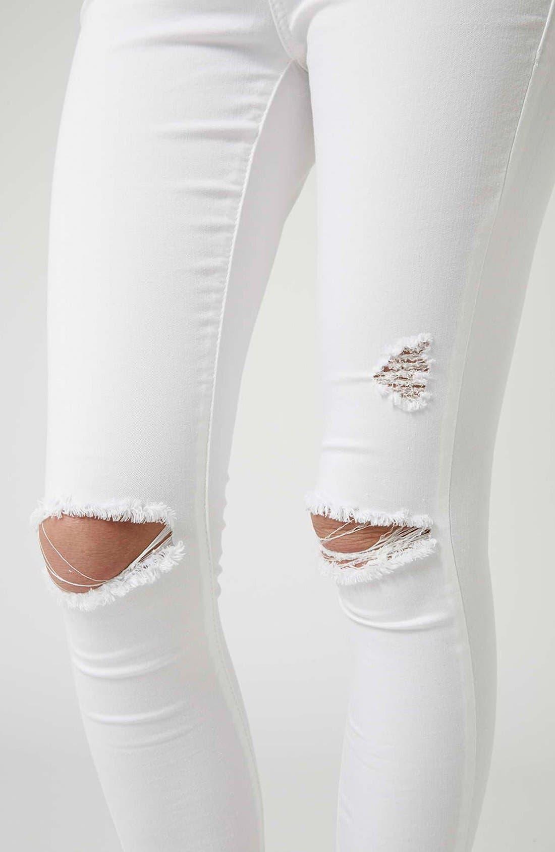 'Leigh' Moto Jeans,                             Alternate thumbnail 5, color,