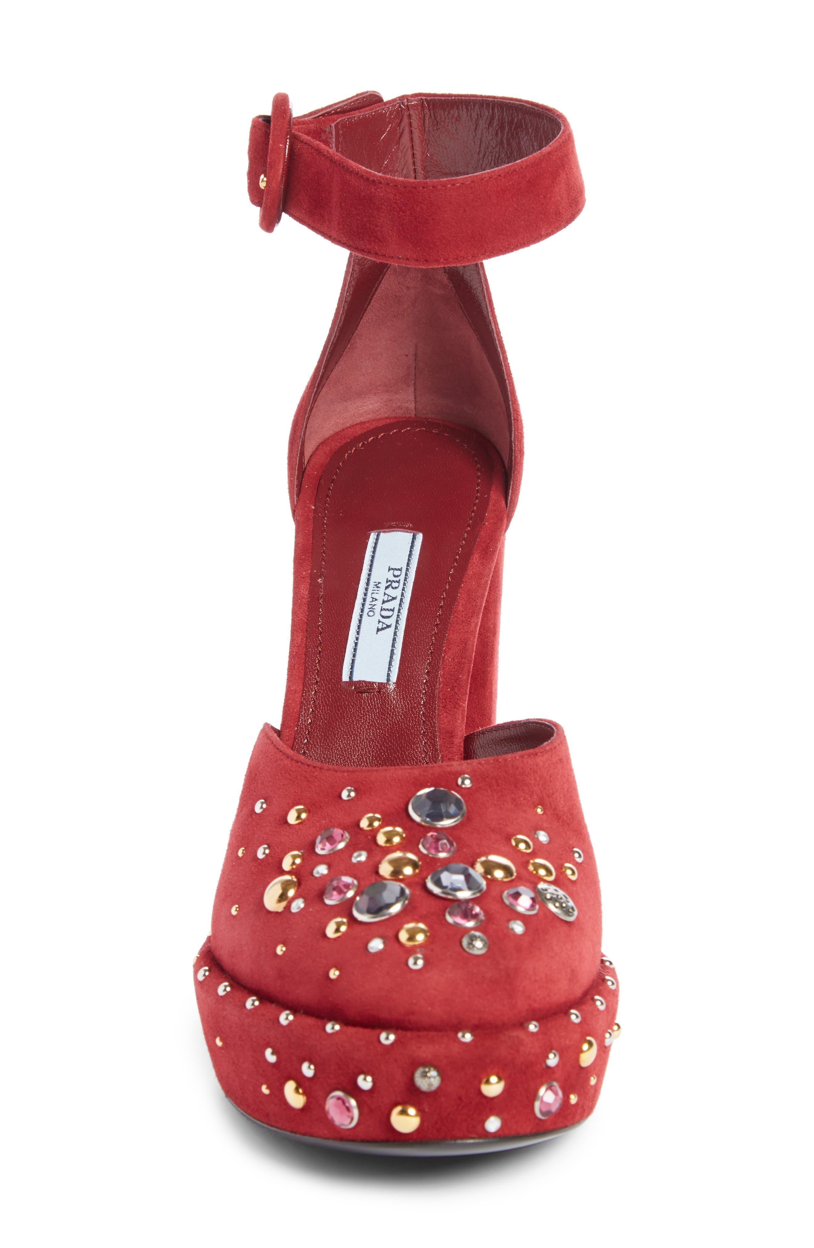 Embellished Ankle Strap Pump,                             Alternate thumbnail 3, color,                             600