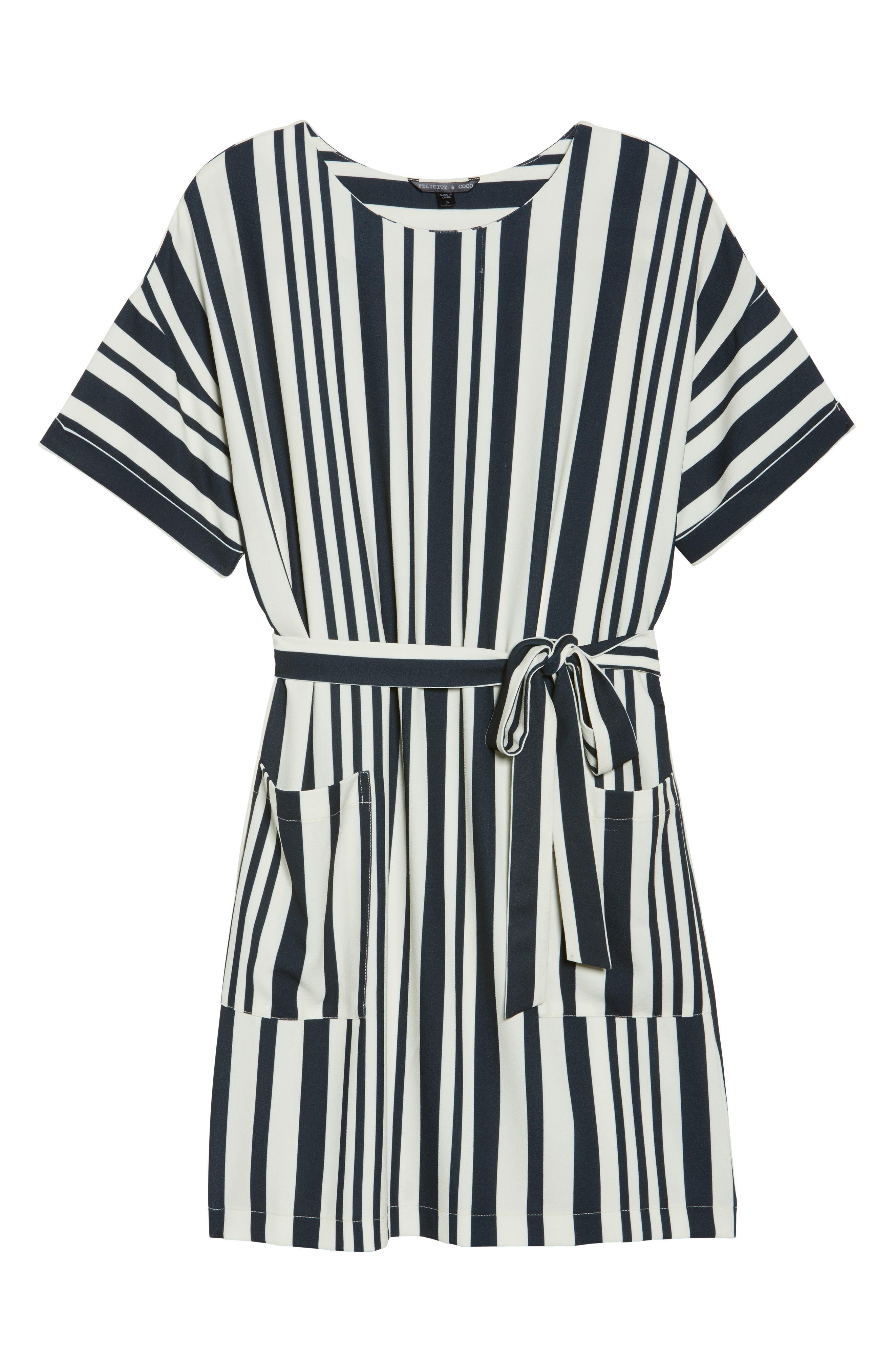 Sterling Stripe Dress,                             Alternate thumbnail 6, color,                             900